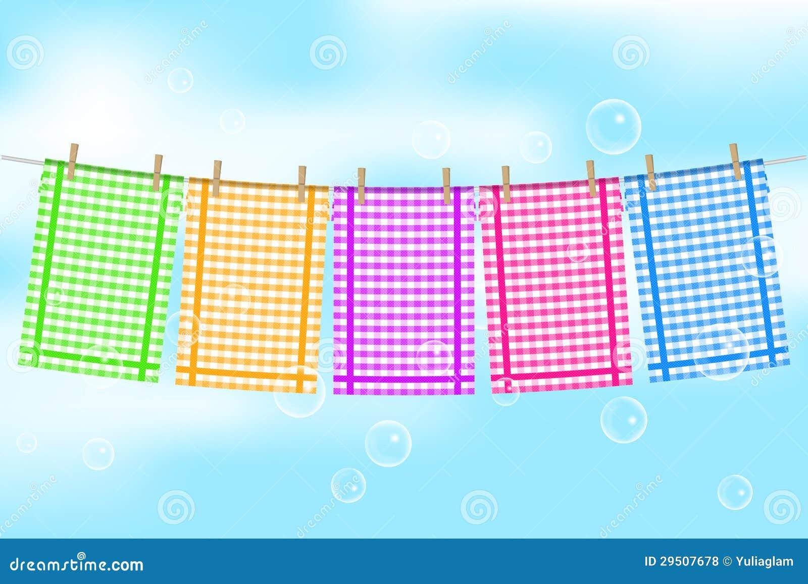 Kleurrijke handdoeken