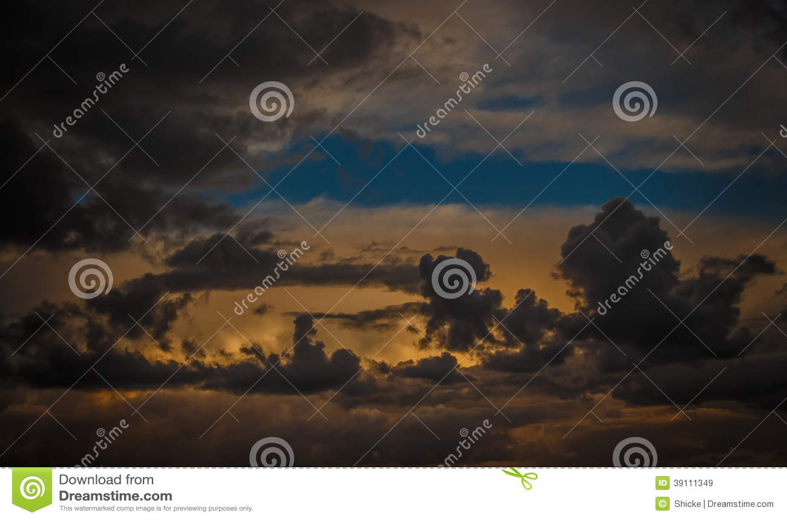 Kleurrijke hemel