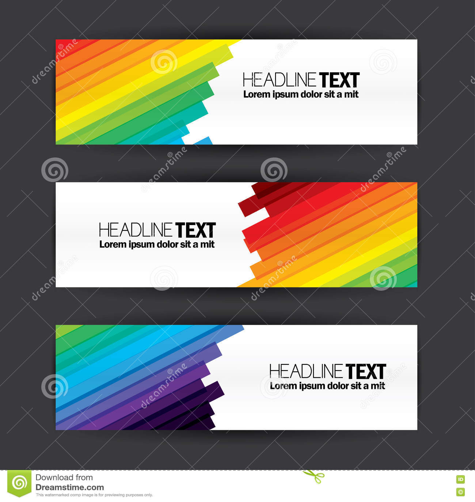 Kleurrijke het malplaatje vectorreeks van het bedrijfsbanners vlakke ontwerp