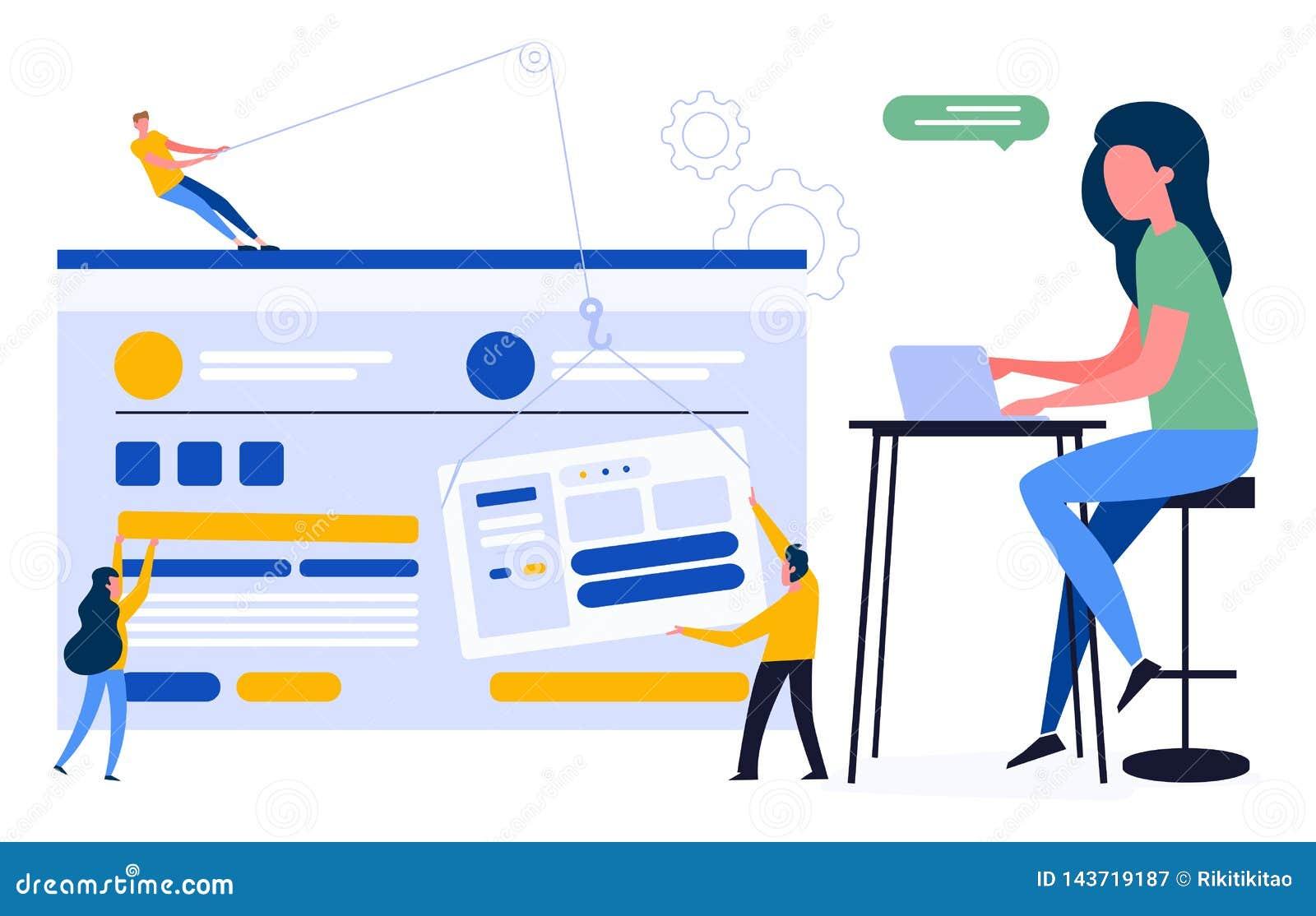 Kleurrijke illustratie van een klantgericht gebruikersvriendelijk ontwerp