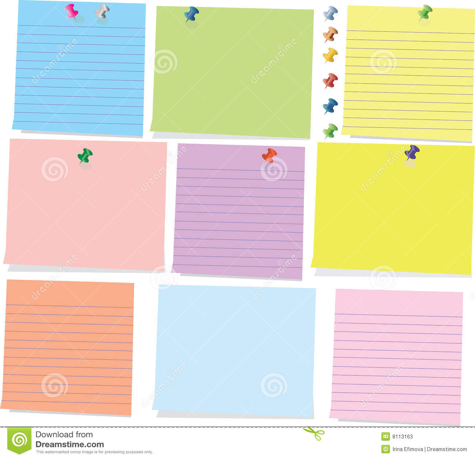 Kleurrijke kleverige nota