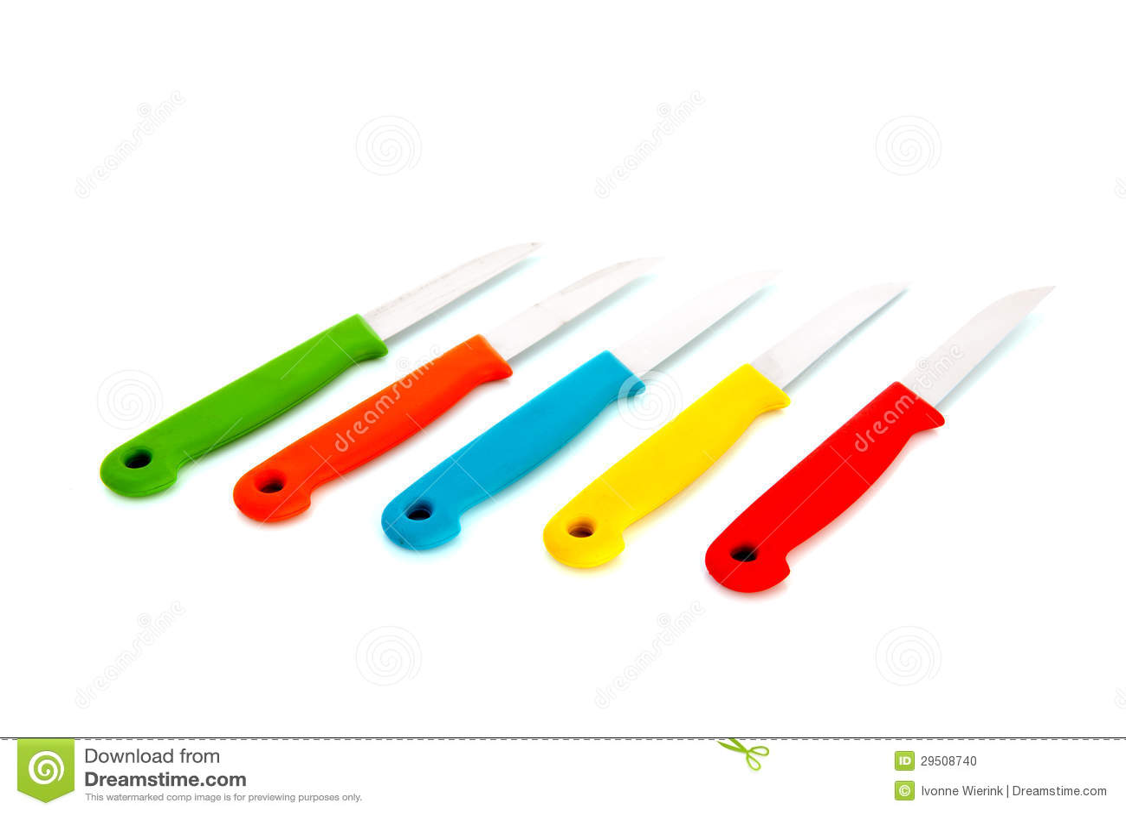 Kleurrijke knifes