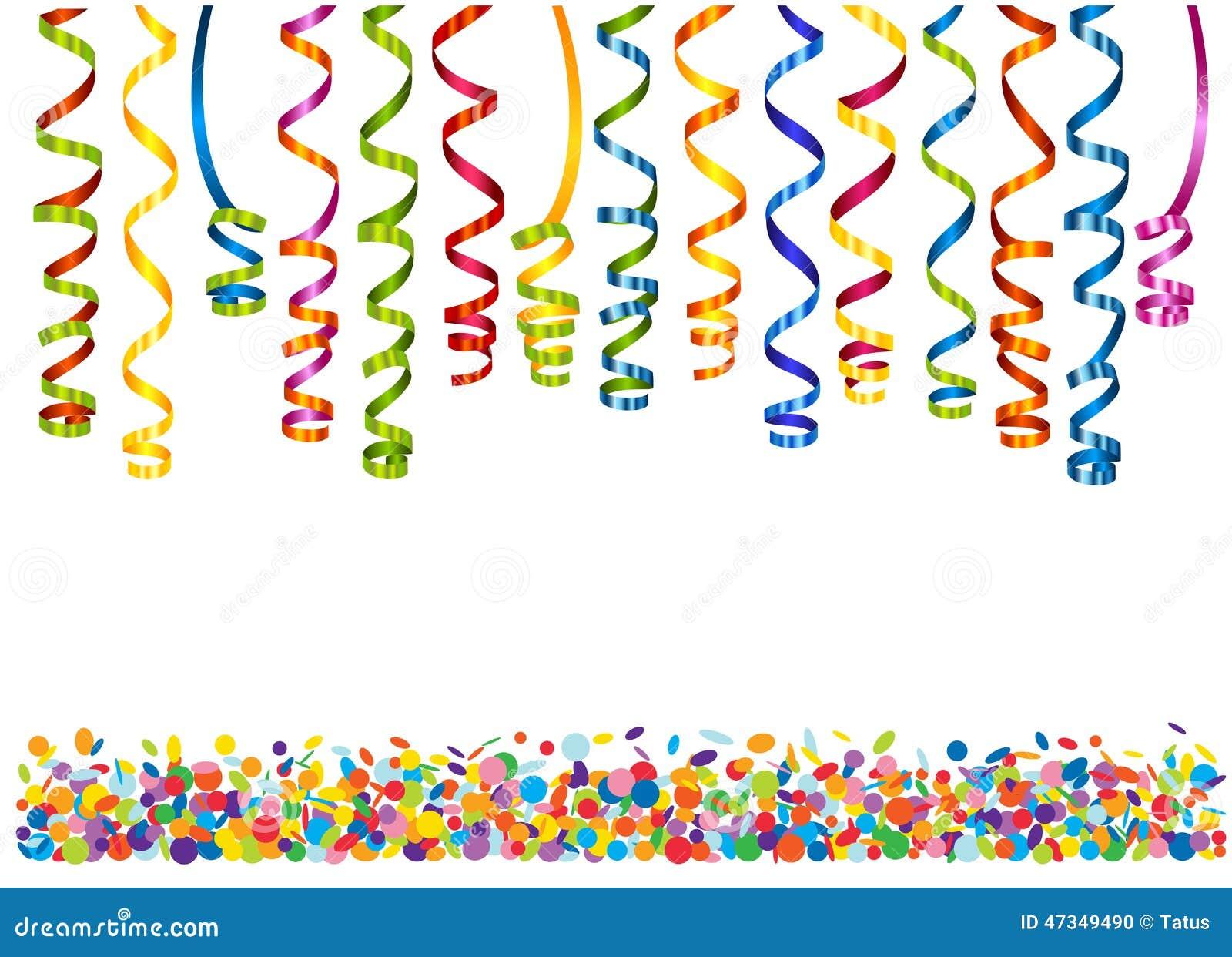 Kleurrijke kronkelweg met confettien