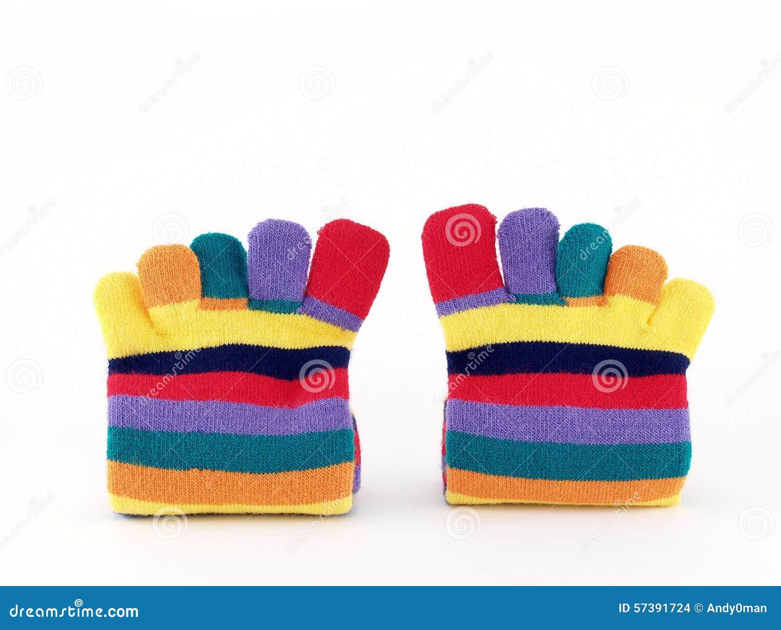 Kleurrijke lange sokken