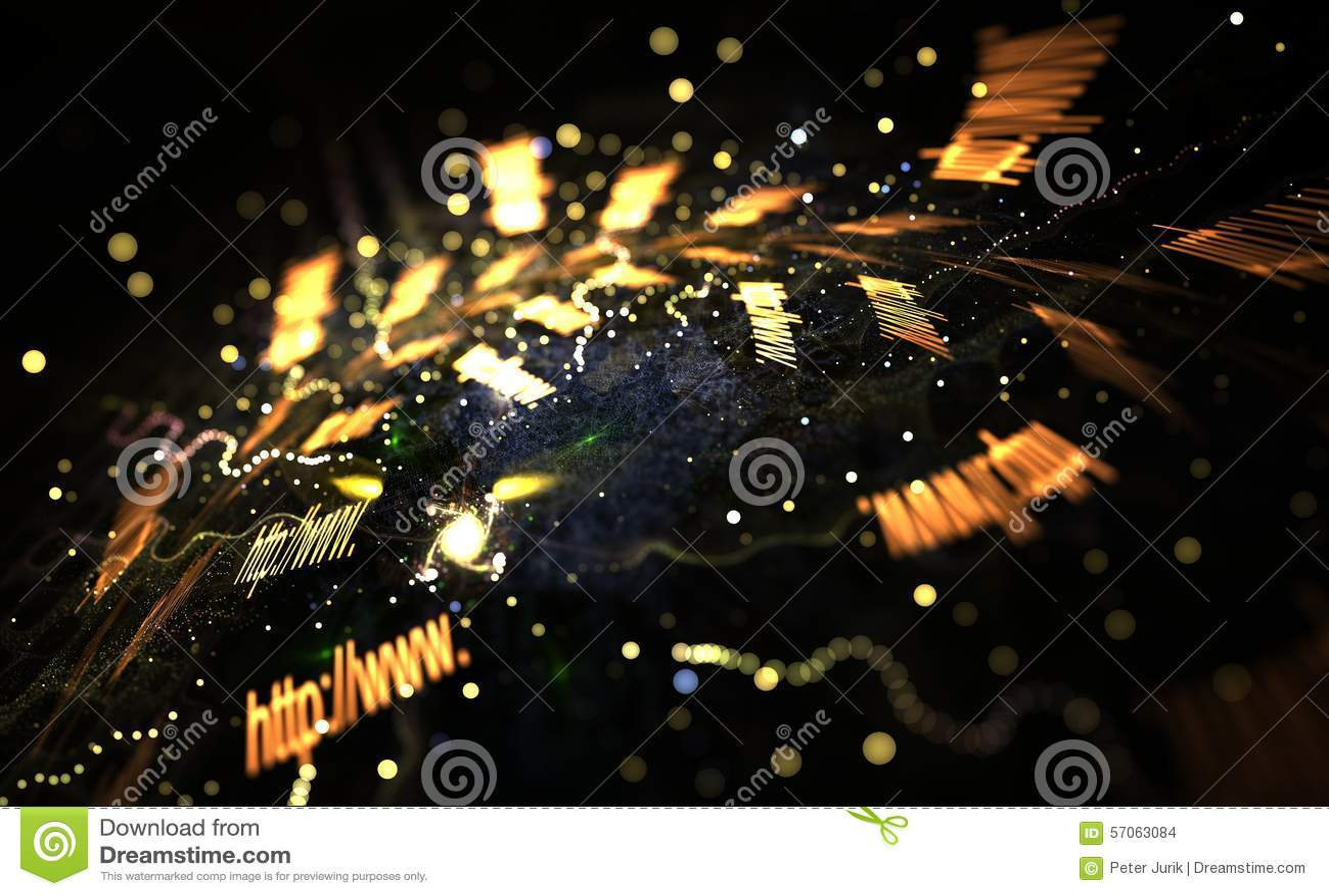 Kleurrijke lichte en abstracte vormen, Internet-concept