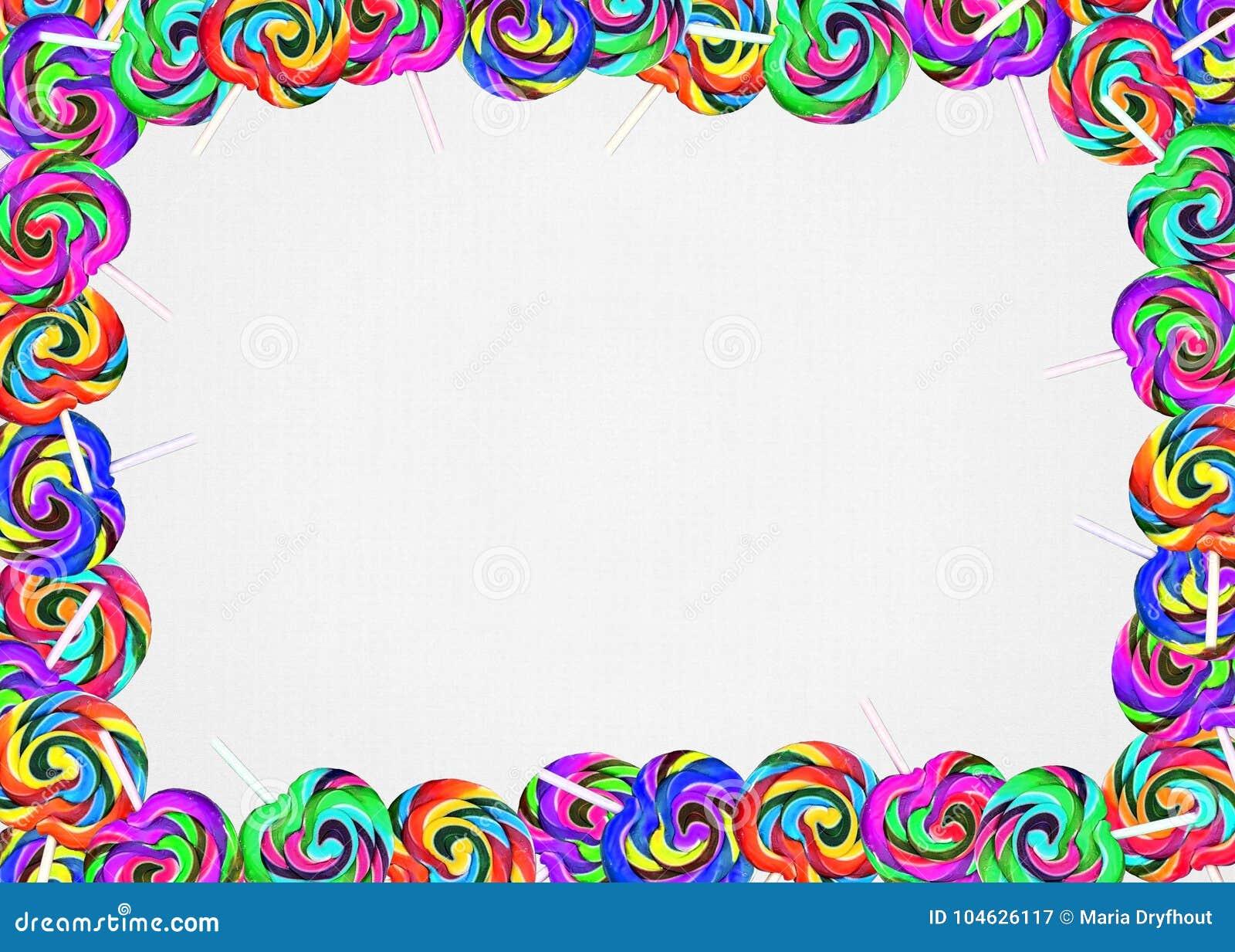 Download Kleurrijke Lollygrens Op Lege Achtergrond Stock Afbeelding - Afbeelding bestaande uit illustratie, gewaagd: 104626117