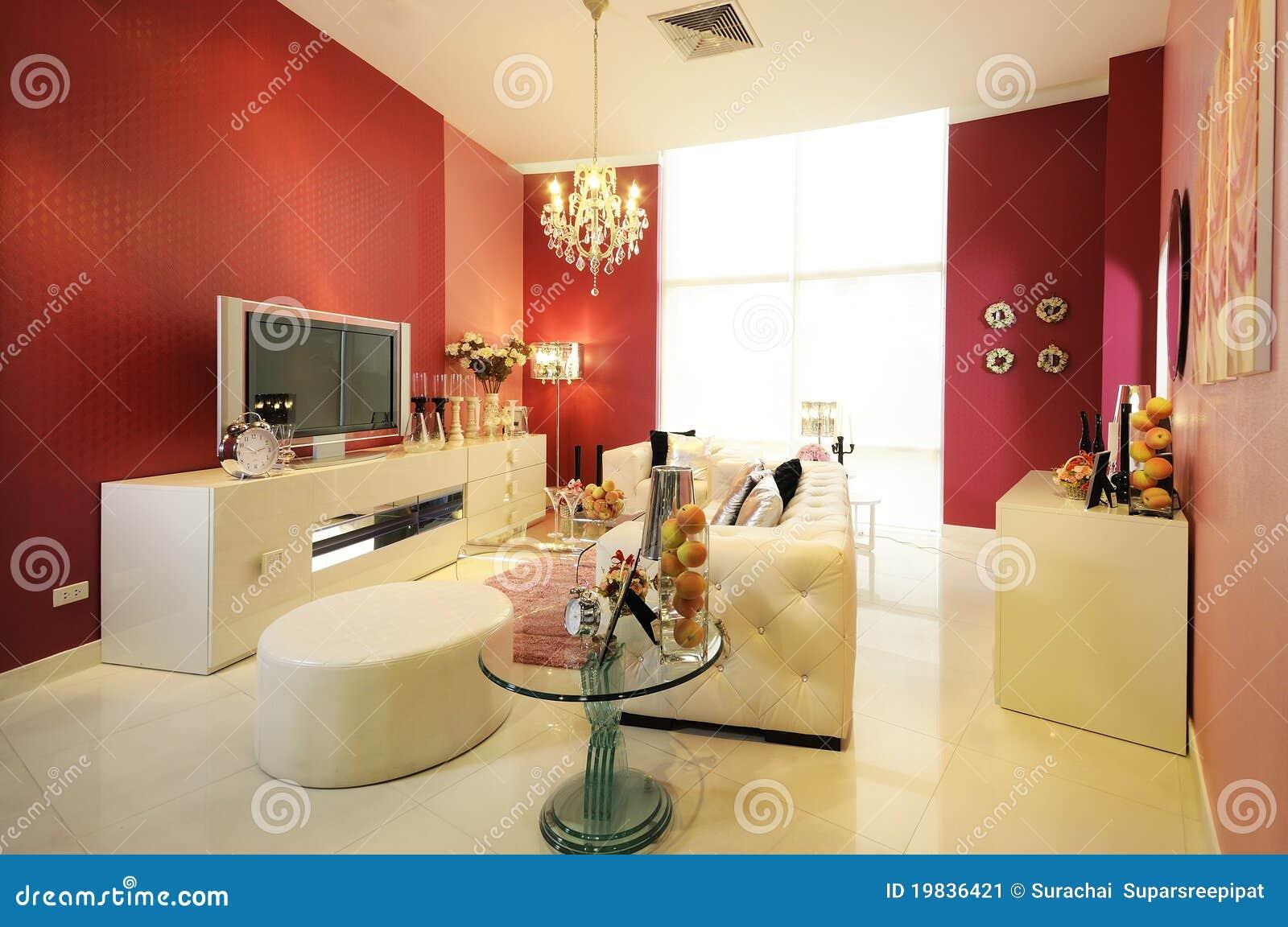 Woonkamer met vide : Kleurrijke, Moderne Woonkamer 03 Stock Afbeelding ...