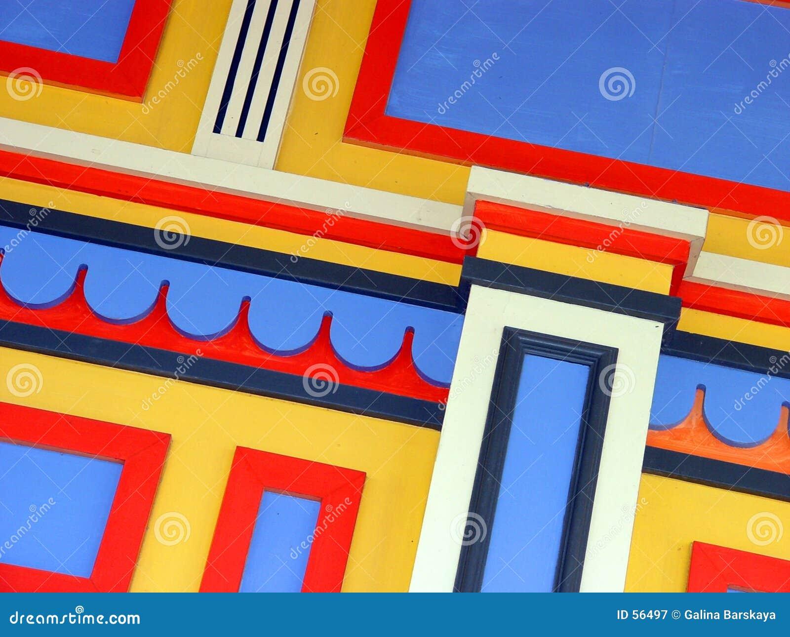 Kleurrijke muur