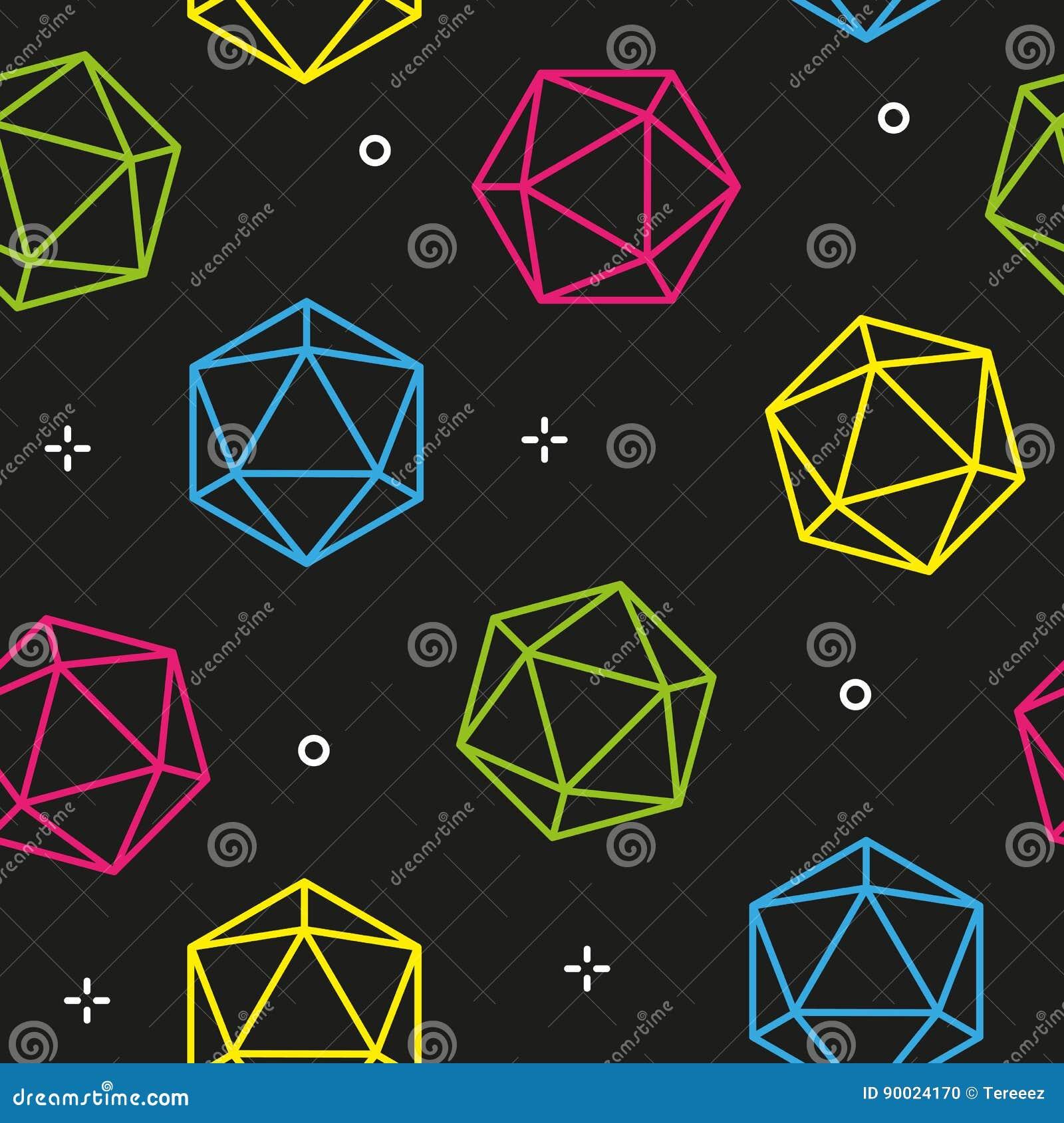 Kleurrijke naadloze het patroonvector van lijn hexagon diamanten