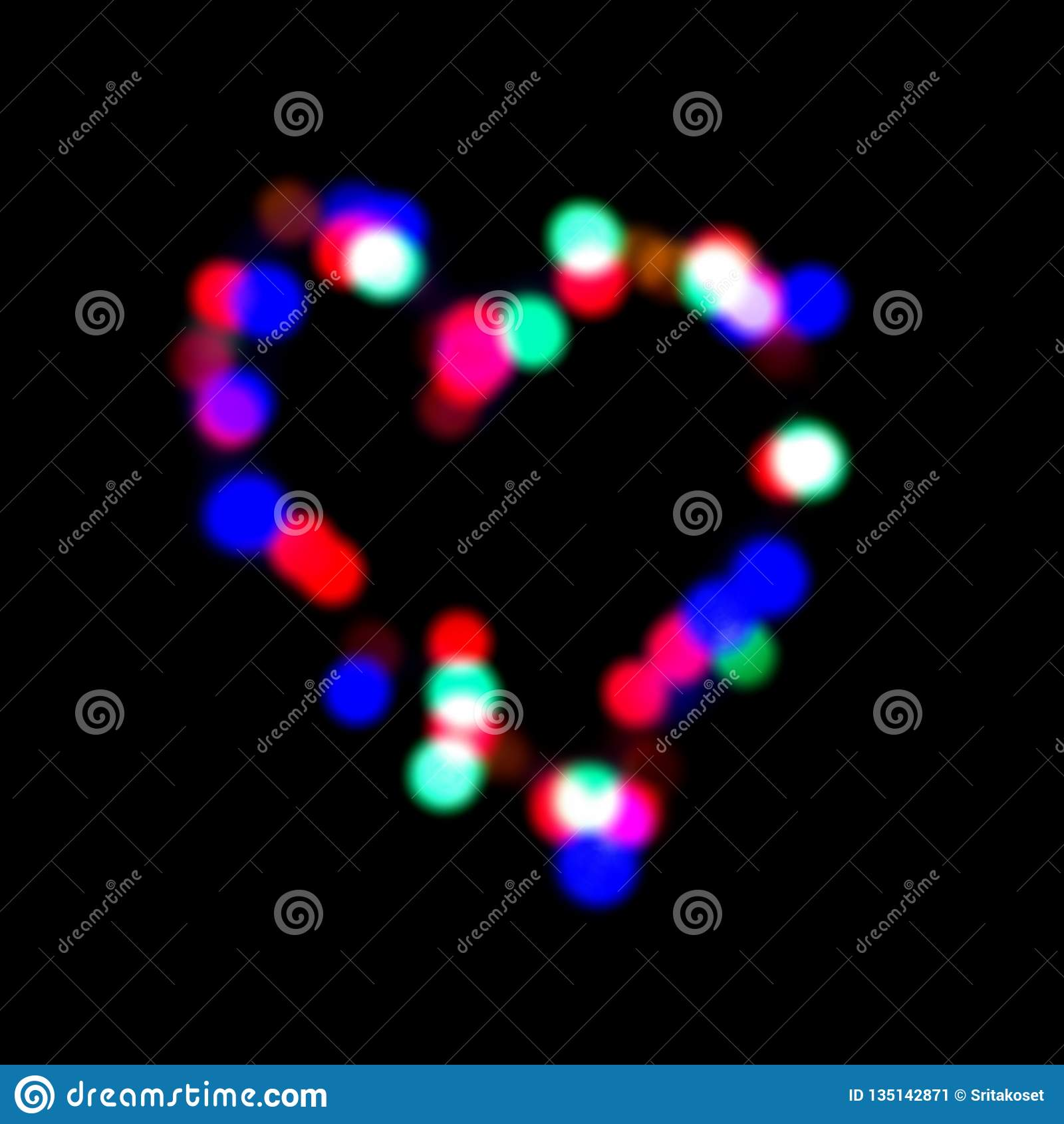 Kleurrijke onduidelijk beeldoogklep in gevormd hart