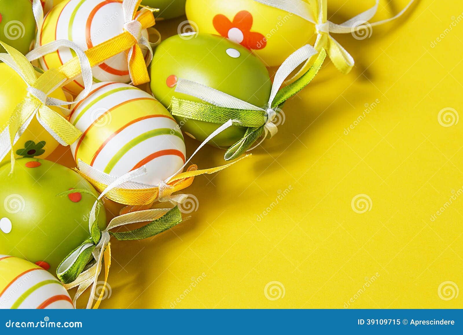 Kleurrijke paaseieren