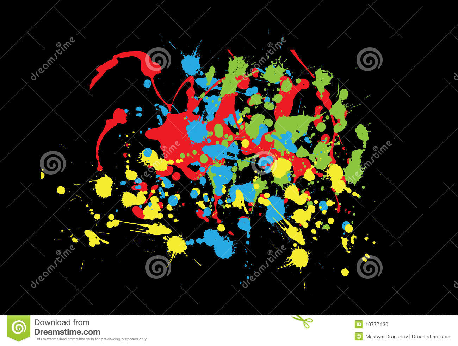 Kleurrijke plonsen