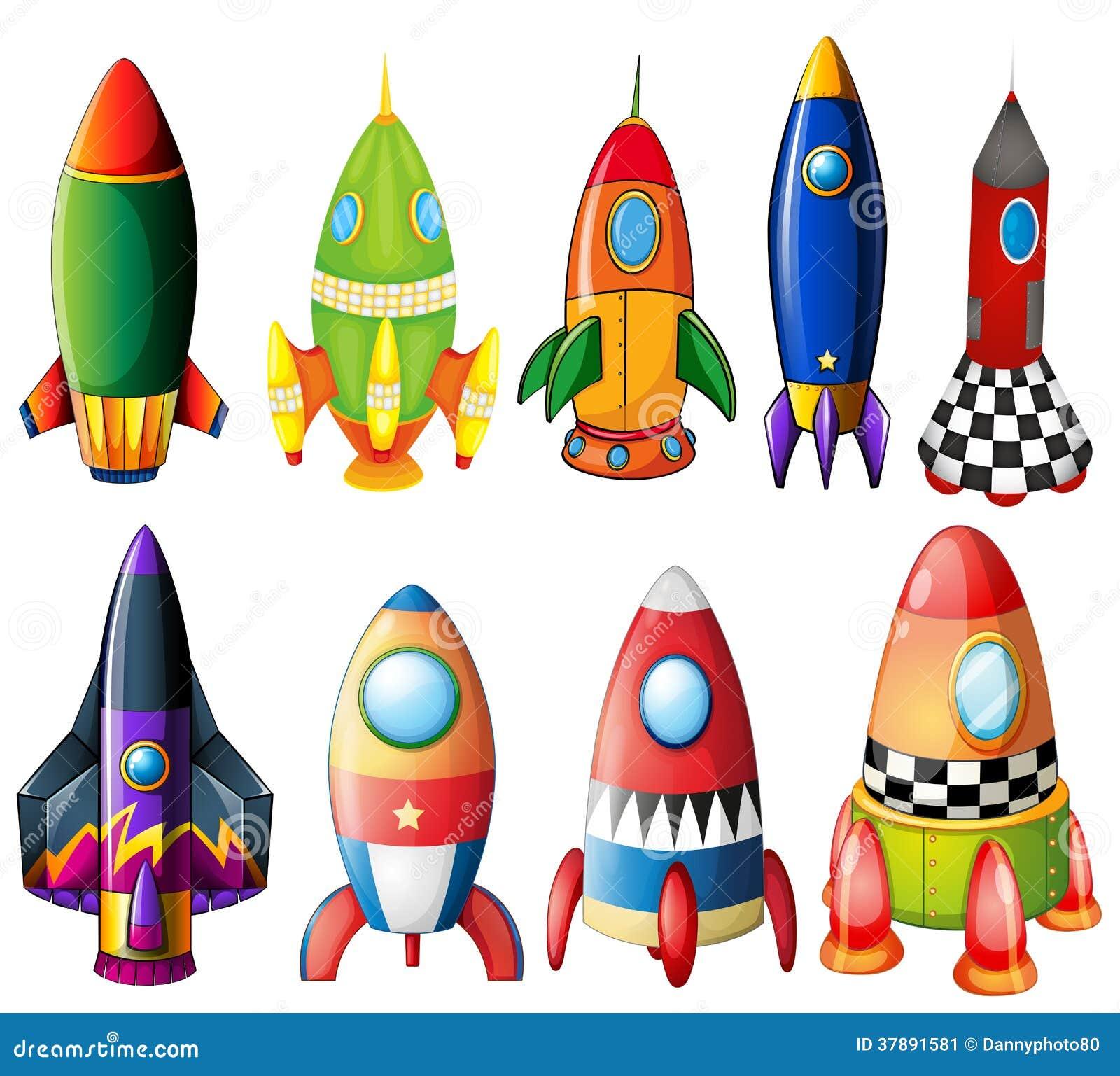 Kleurrijke raketten