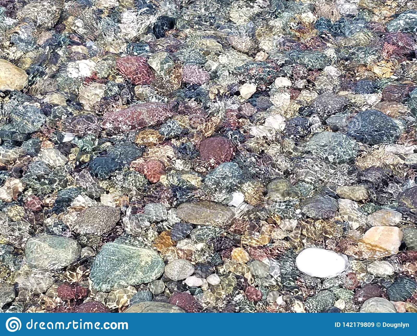 Kleurrijke Rotsen onder de Oceaankustlijn van Brandingsnew england de V.S.