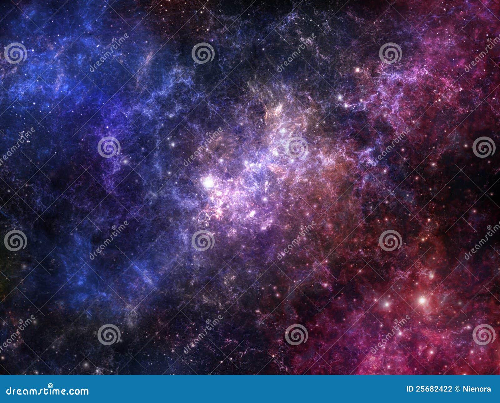 Kleurrijke ruimtenevel