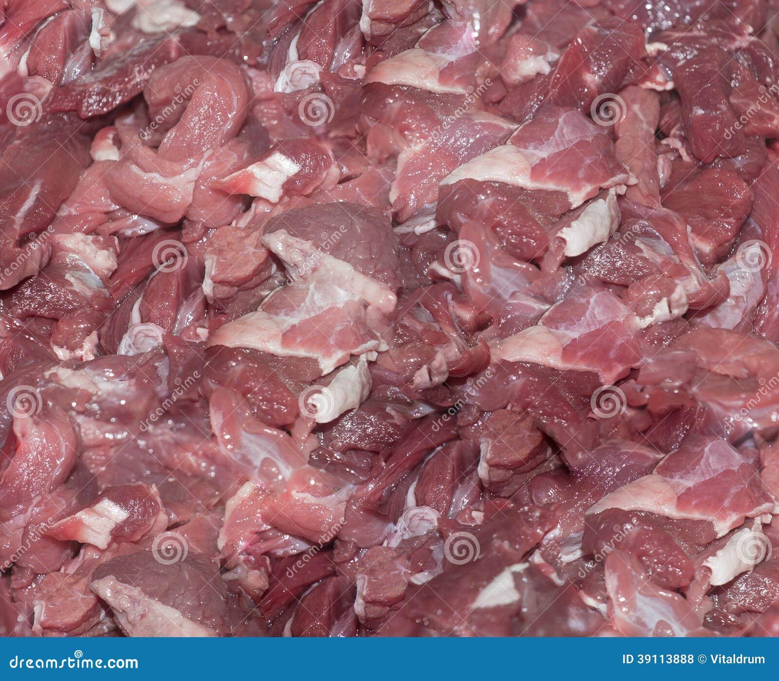 Kleurrijke ruwe vleesachtergrond
