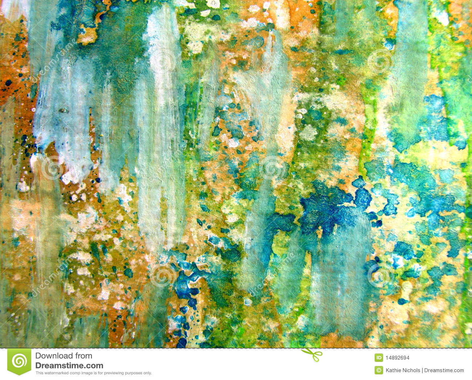 Kleurrijke Samenvatting 1 van de Waterverf