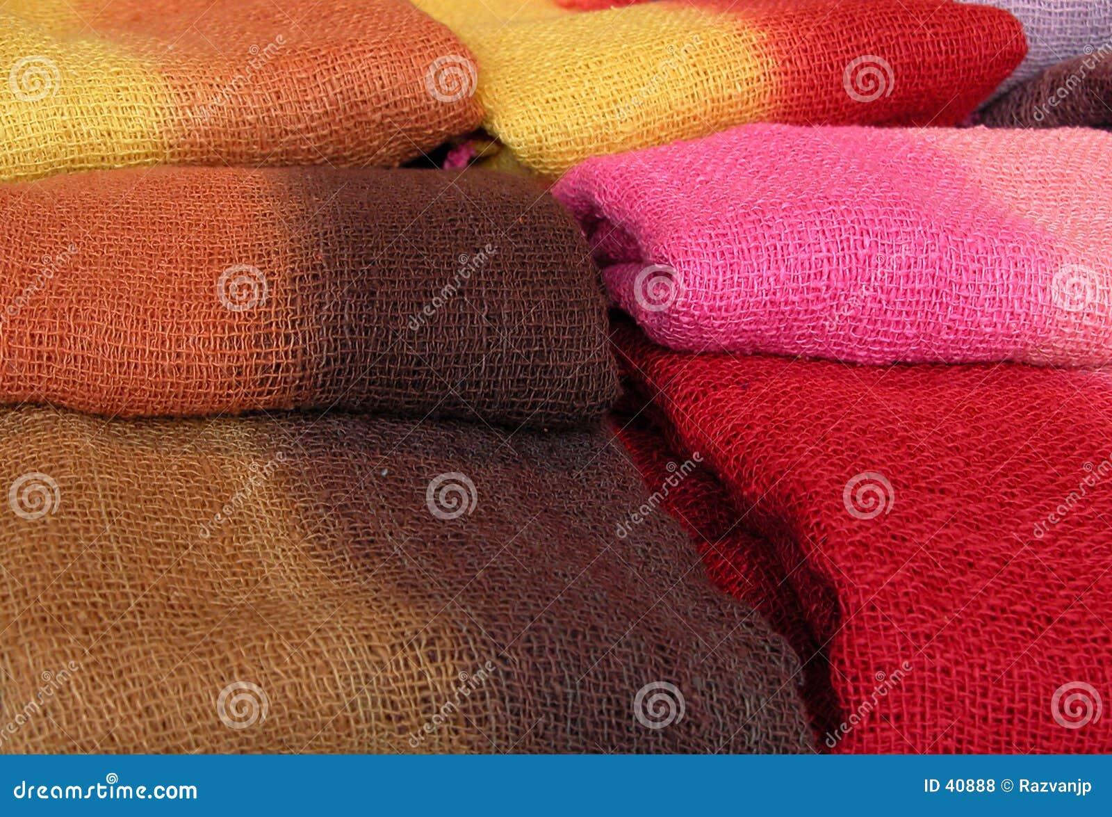 Kleurrijke sjaals