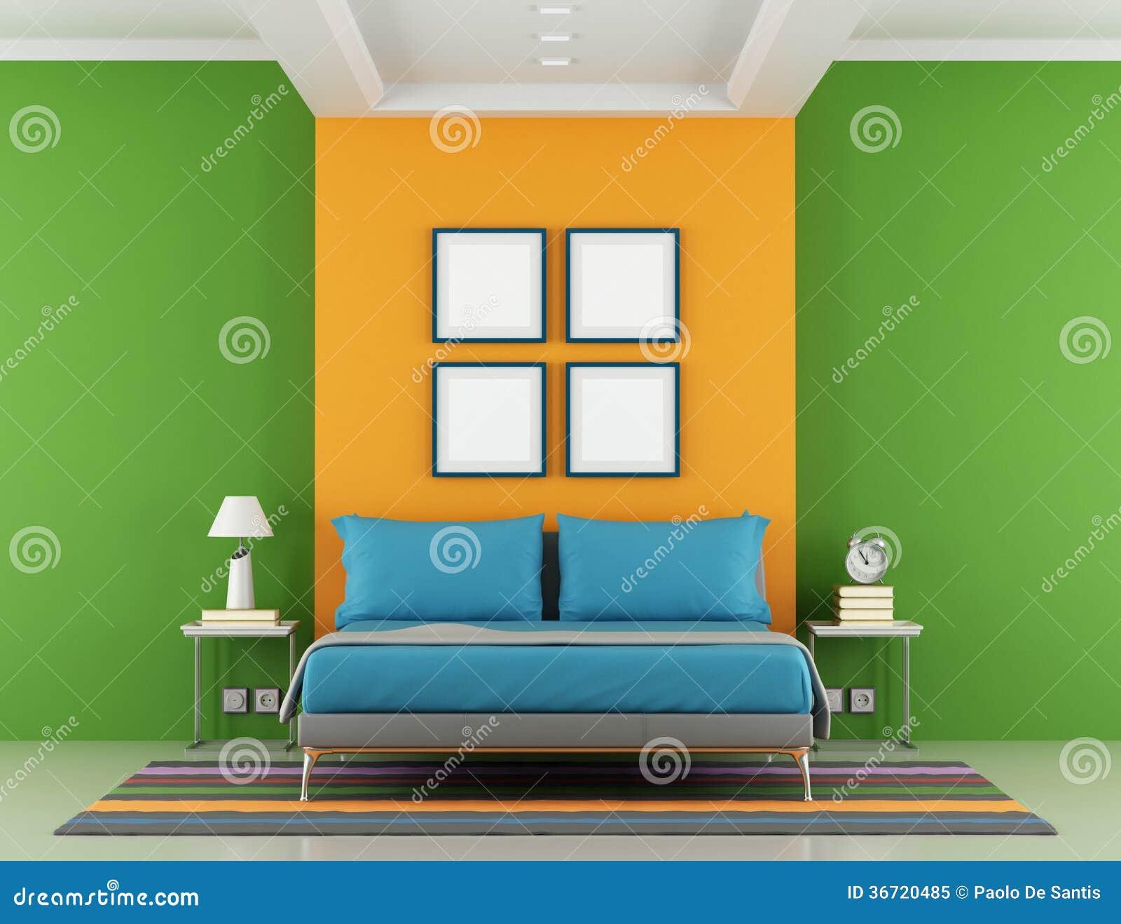 Slaapkamer met oranje muur stock foto's– 82 slaapkamer met oranje ...