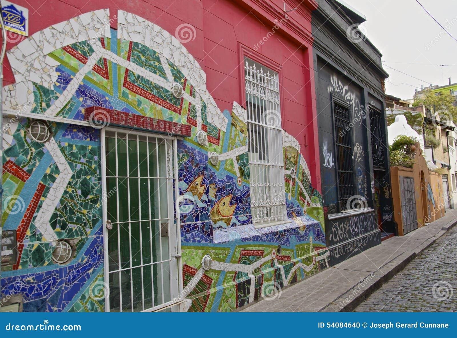 Kleurrijke straat in Buenos aires