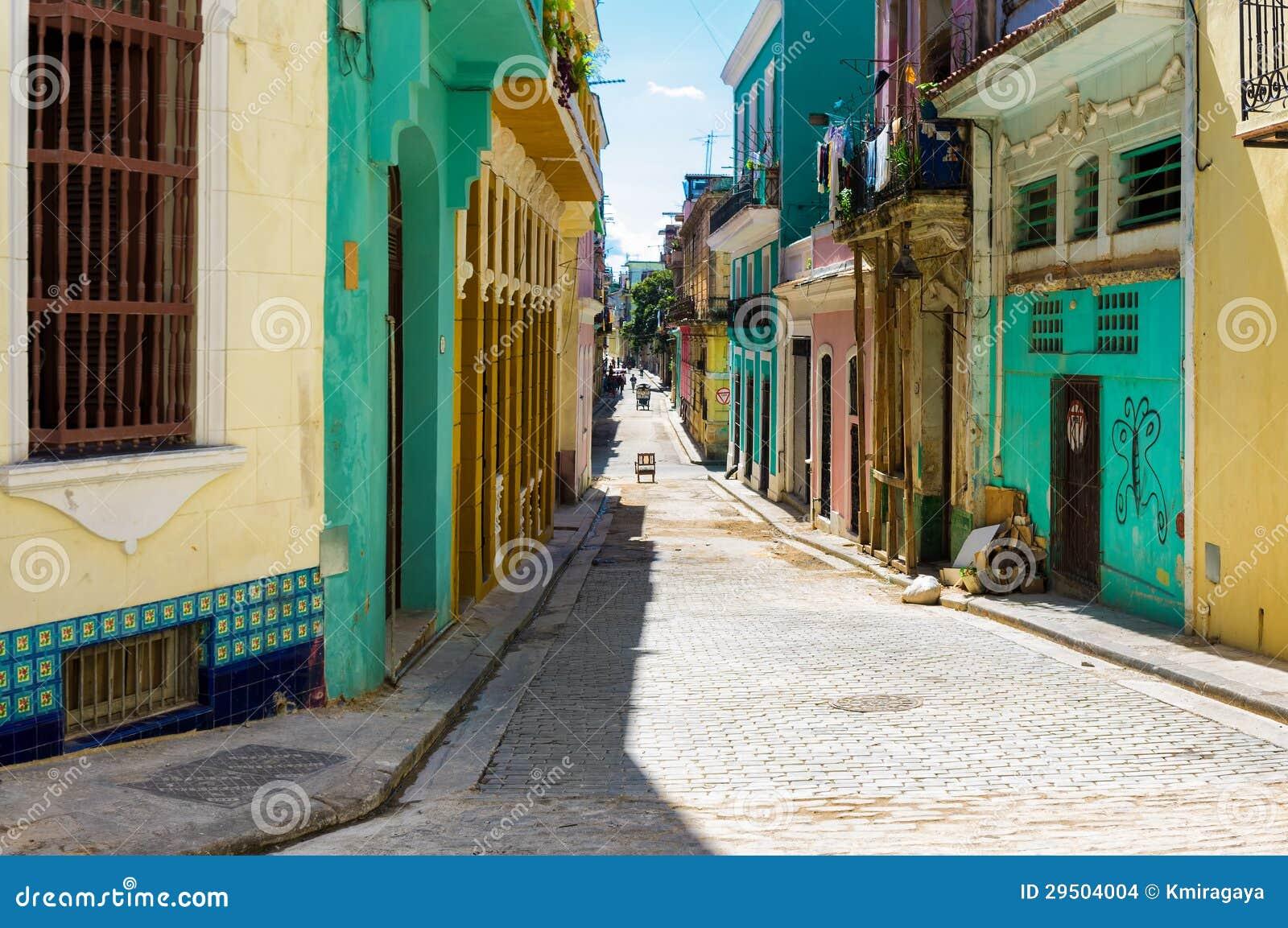 Kleurrijke straat in Oud Havana