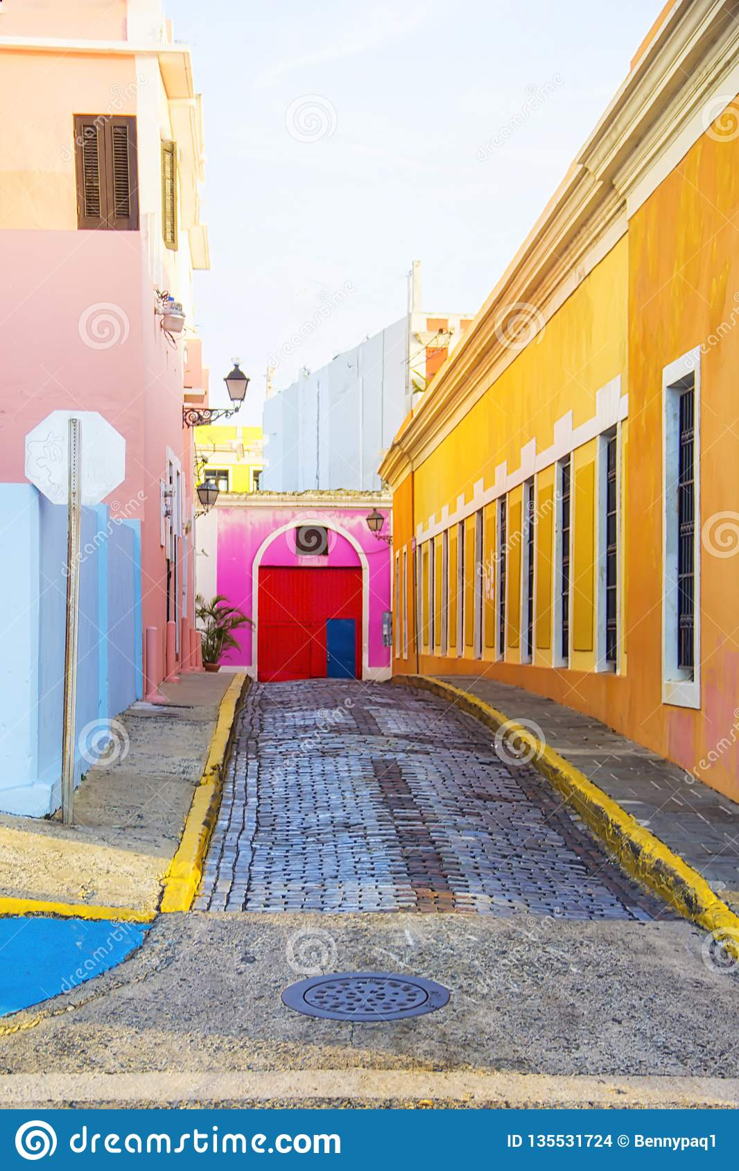 Kleurrijke straat in San Juan Puerto Rico