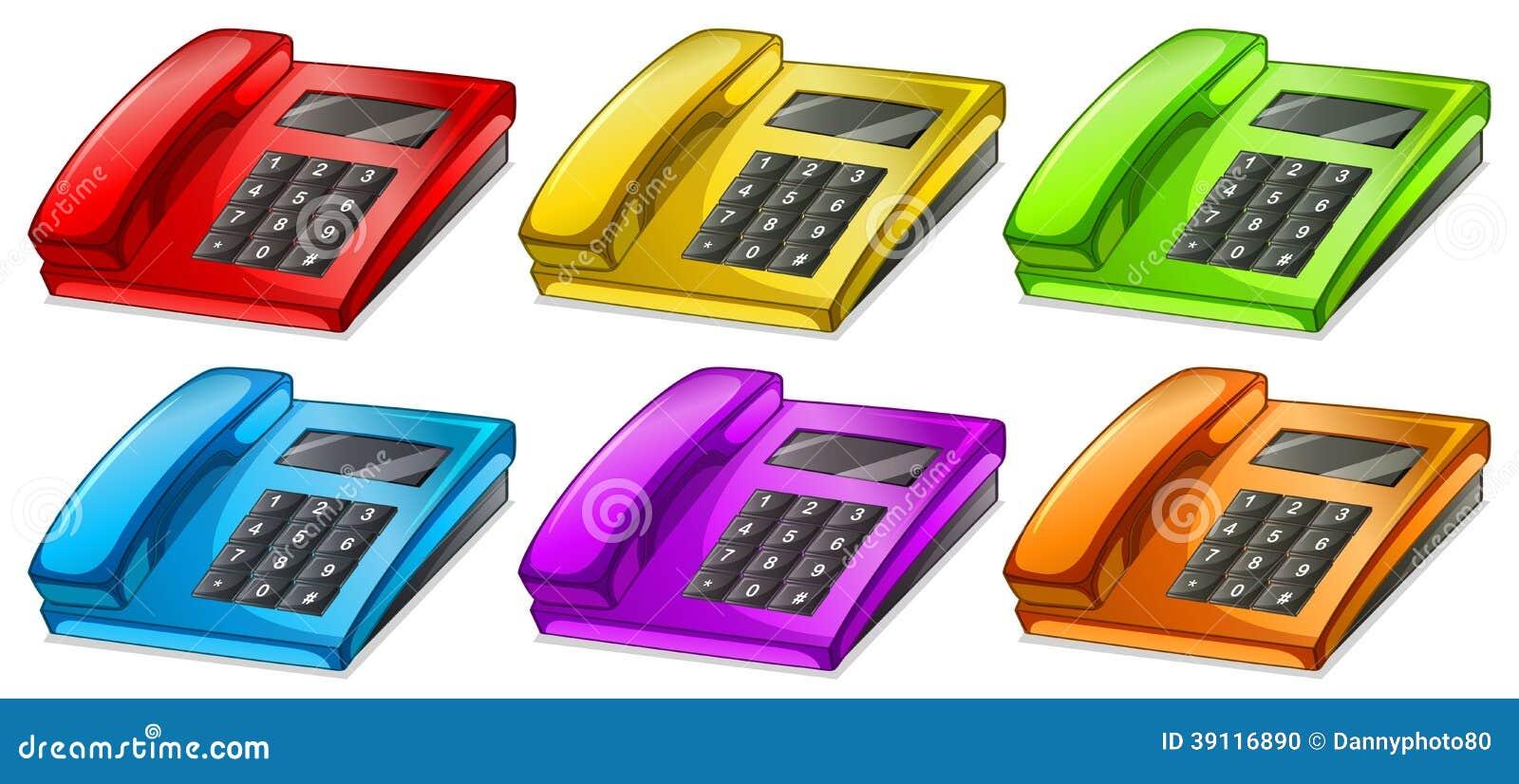 Kleurrijke telefoons