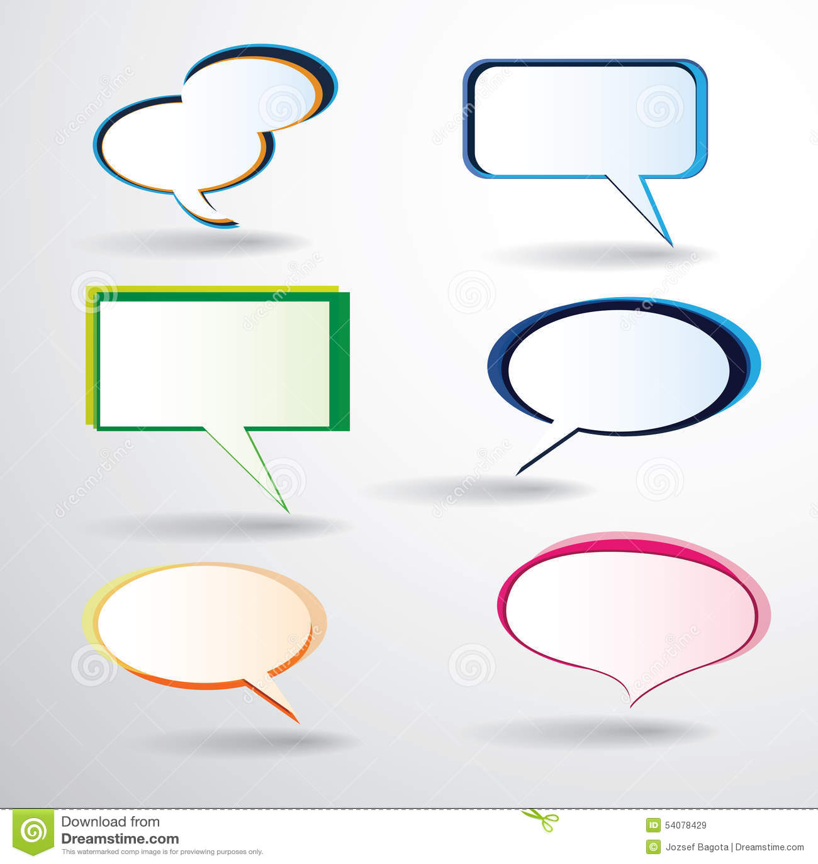 Kleurrijke toespraakbellen