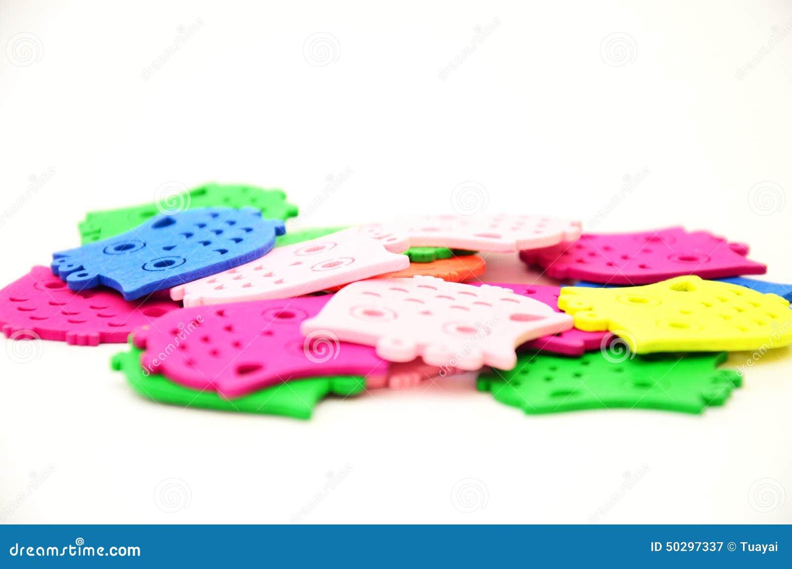Kleurrijke uilplaat