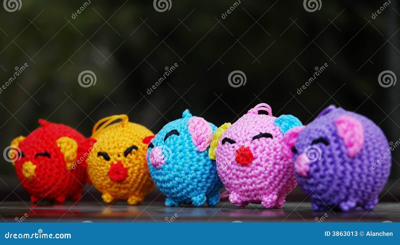 Kleurrijke varkens