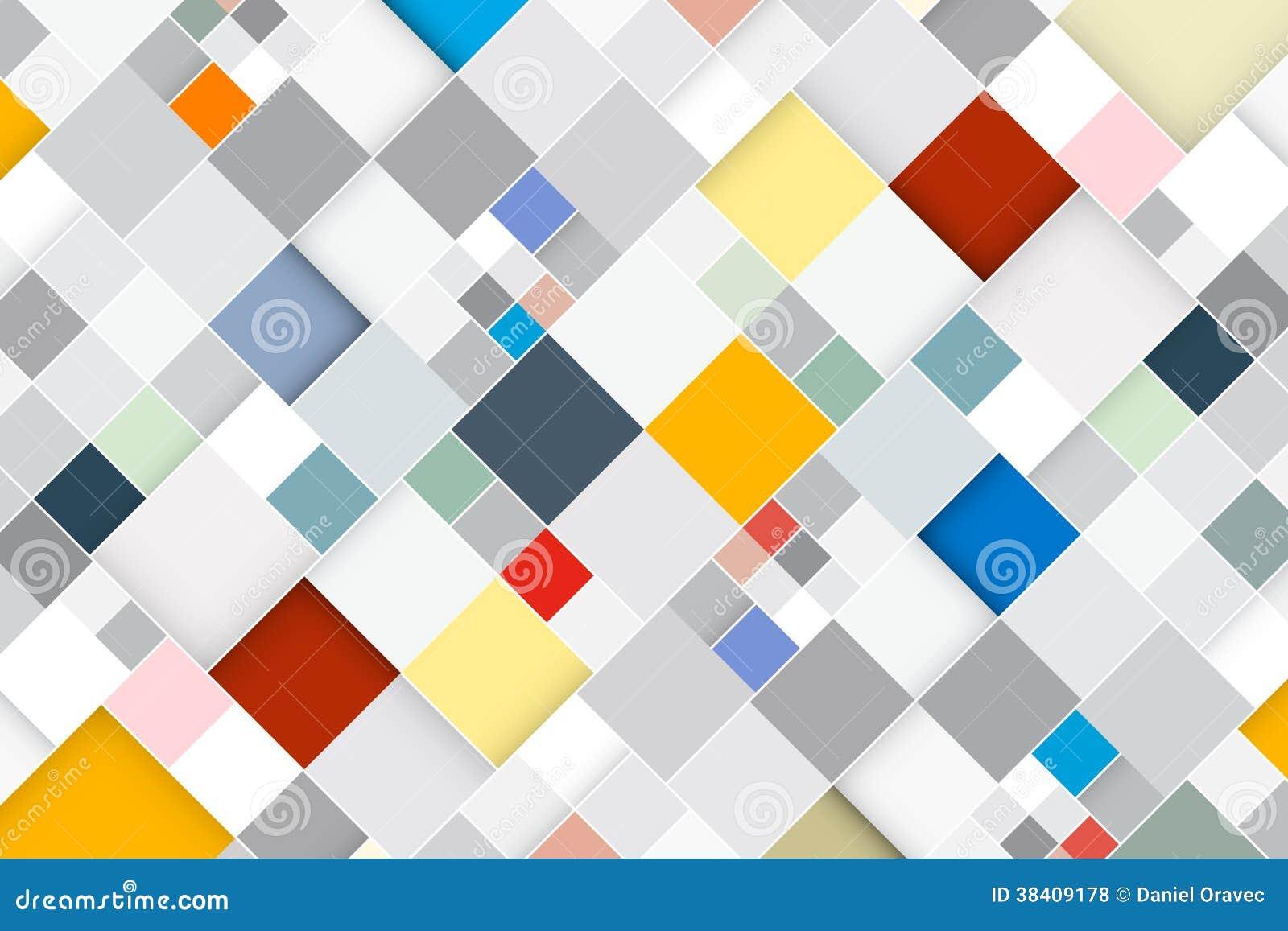 Kleurrijke Vector Abstracte Vierkante Retro Achtergrond