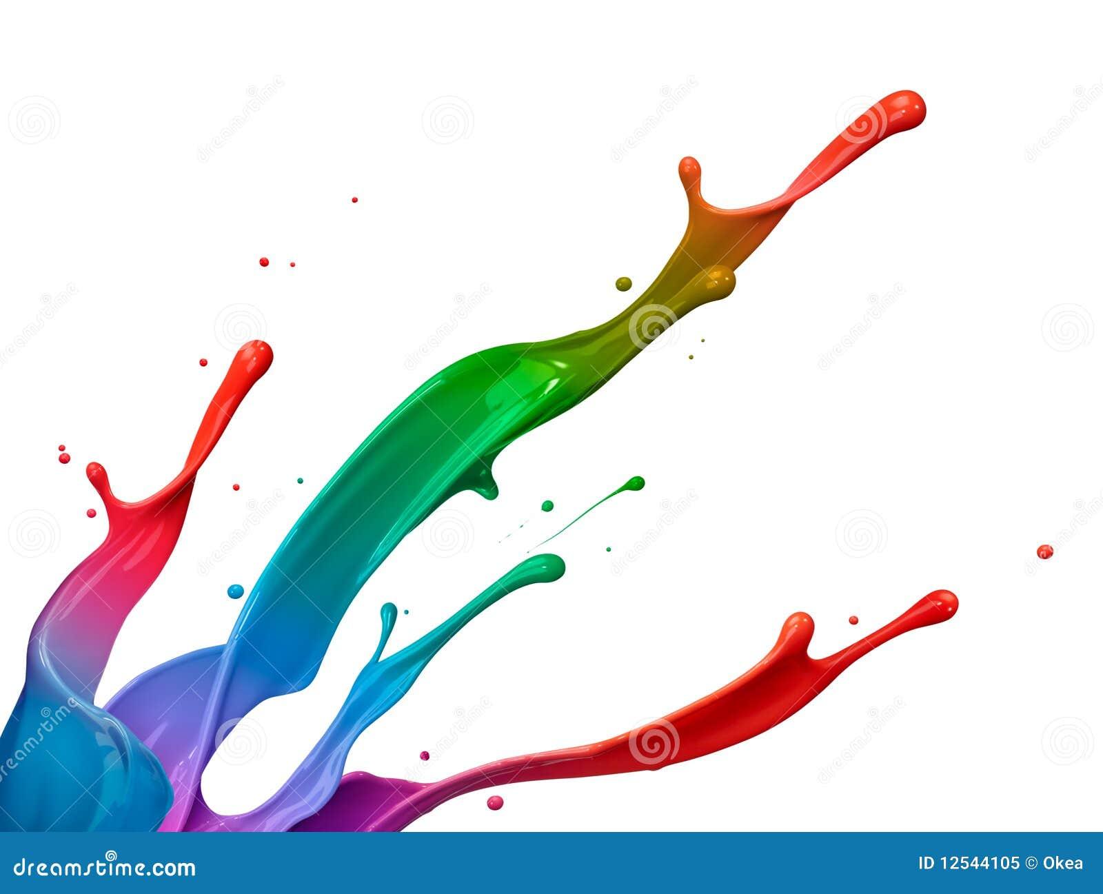 Kleurrijke verfplons