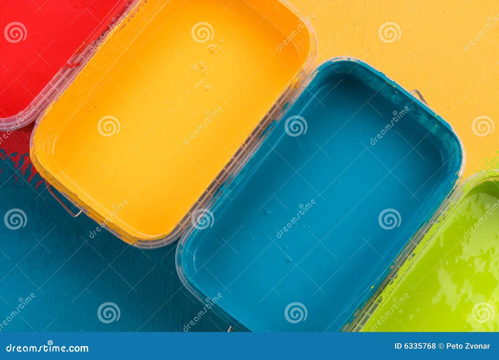 Kleurrijke verven