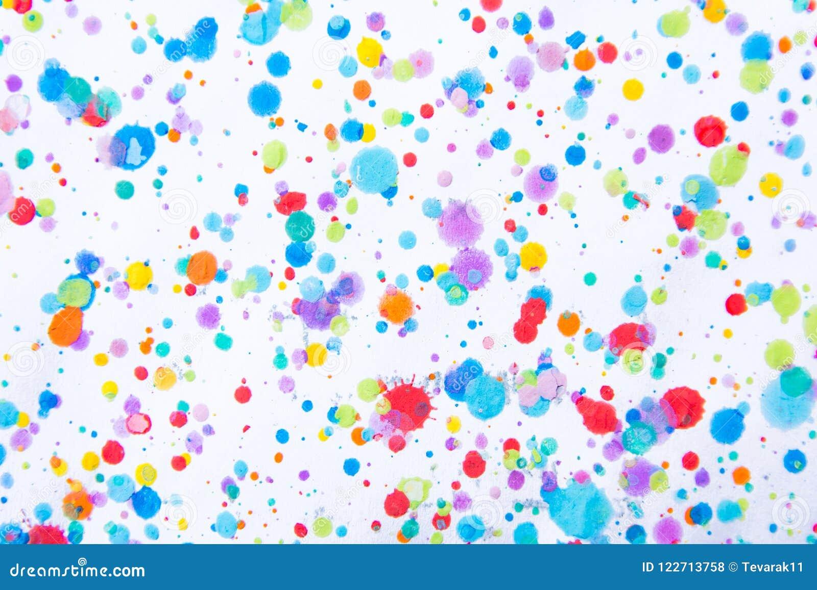 Kleurrijke waterkleur het schilderen plons Vlek, Vage vlek Met t