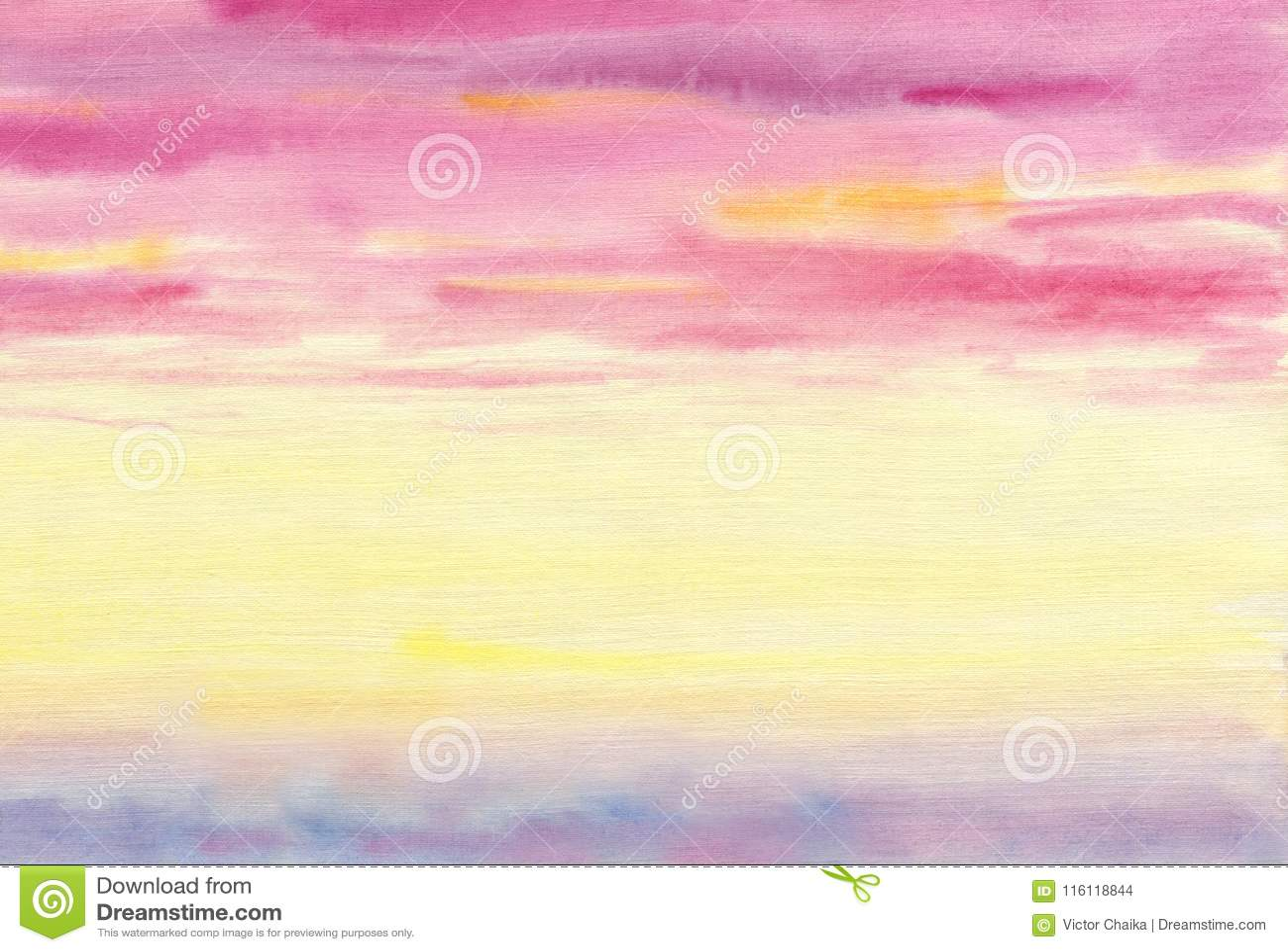 Kleurrijke wolken De hemel is bij zonsondergang