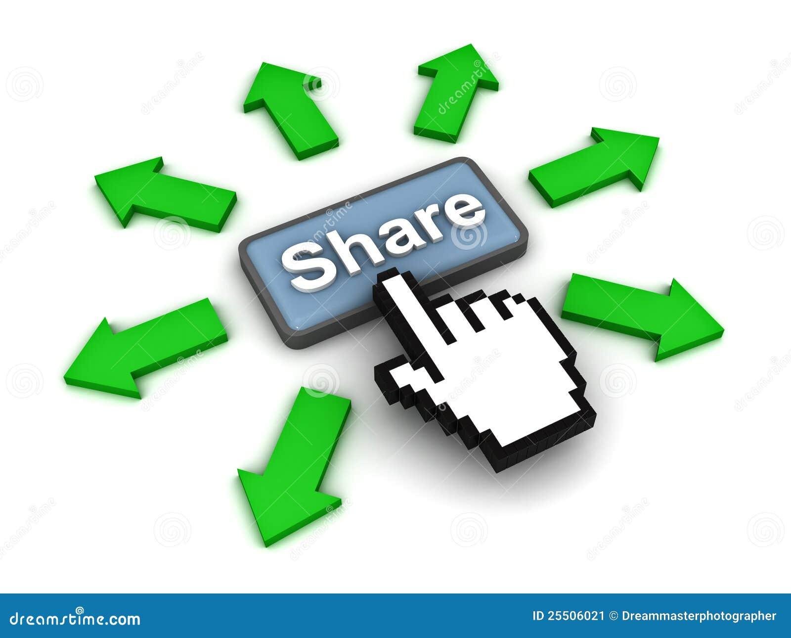 Klickande share för knapp