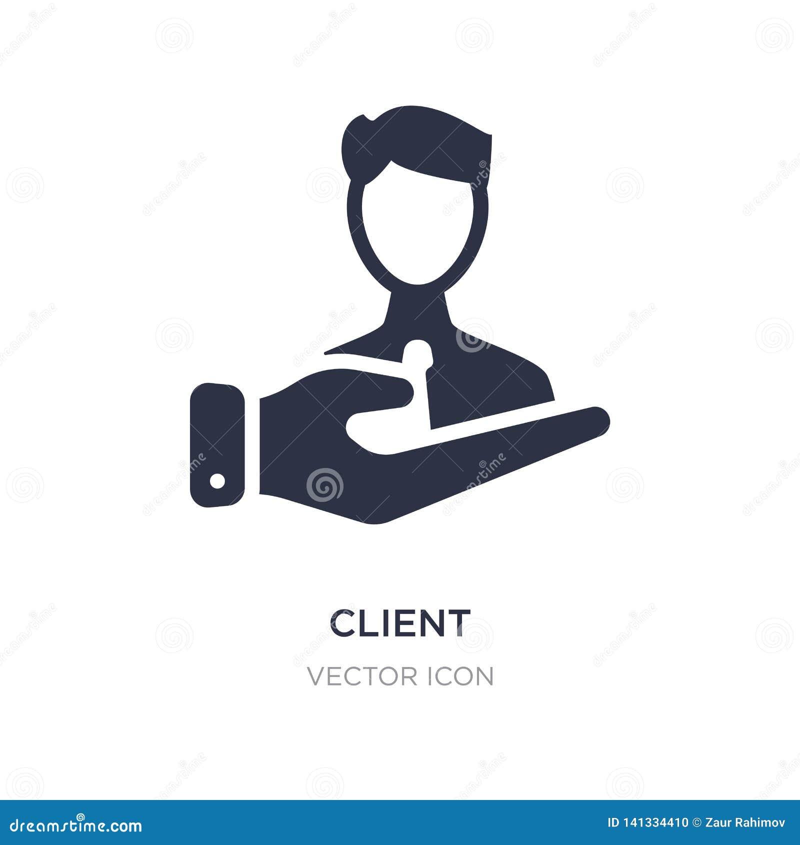 Klient ikona na białym tle Prosta element ilustracja od technologii pojęcia