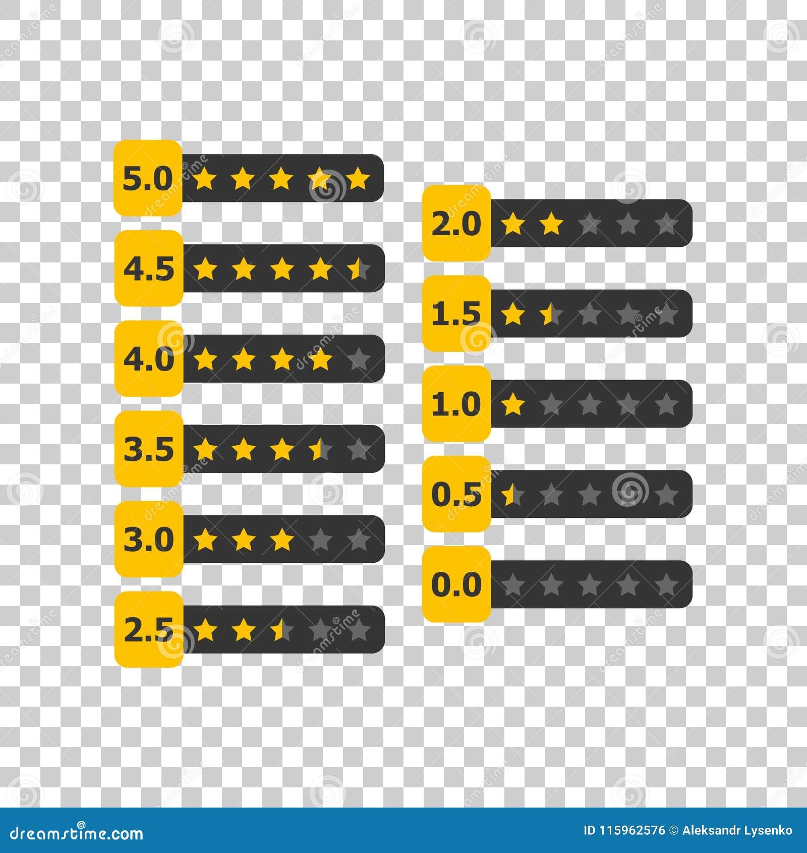 Klienta przeglądowy biznesowy pojęcie Gwiazdy zaliczają się wektorową ilustrację