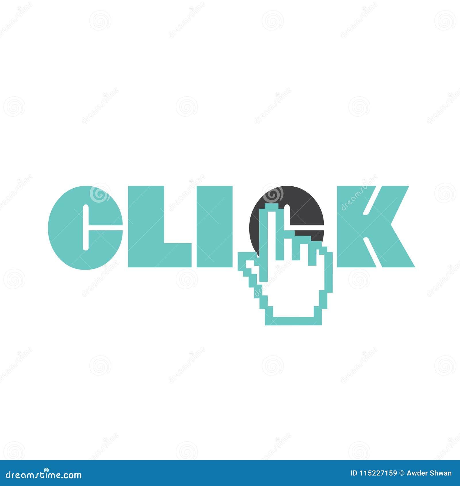 Klik het embleem van de handwijzer