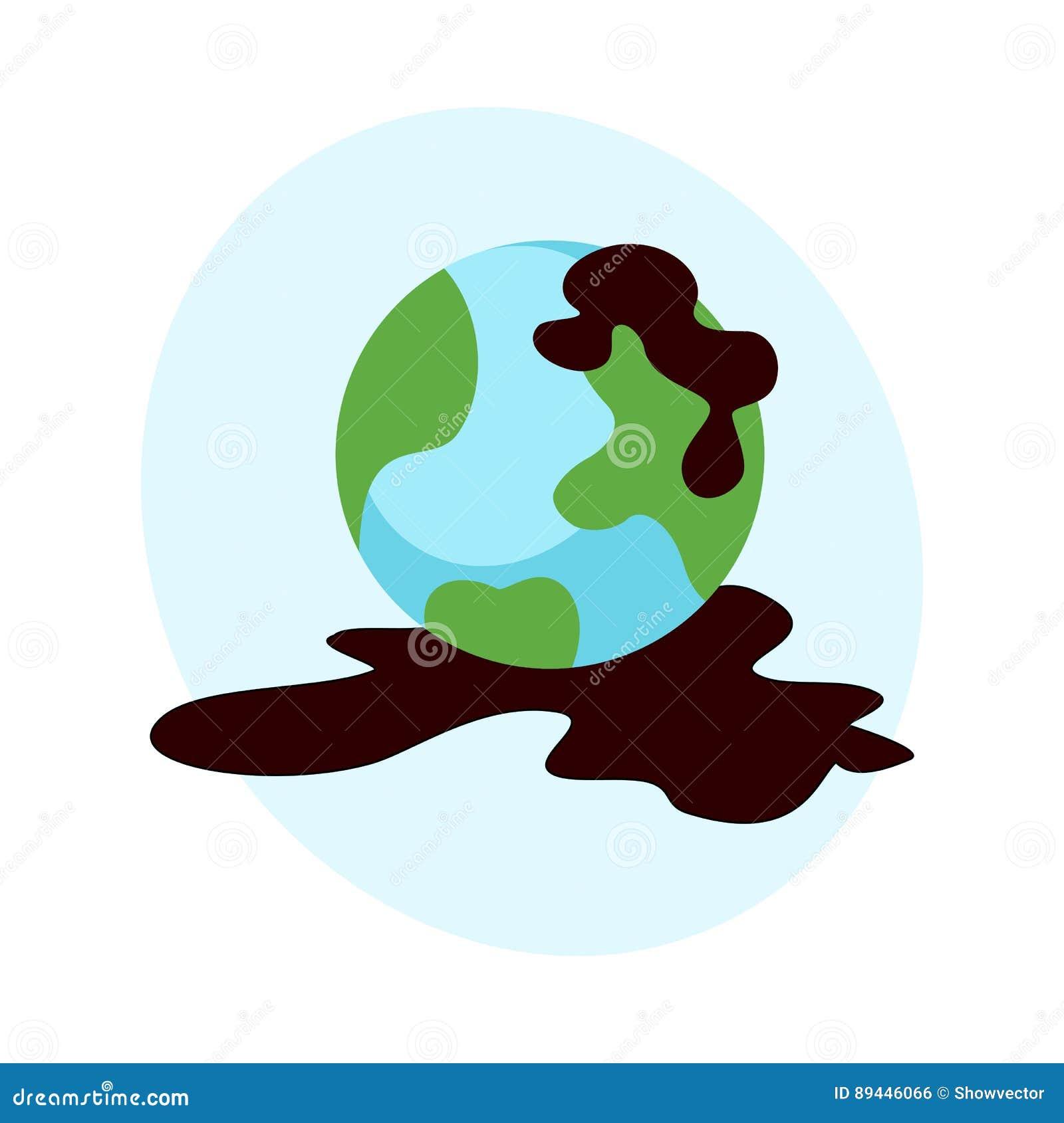 Klimaölverschmutzung der ökologischen Probleme des Wassererdvektors