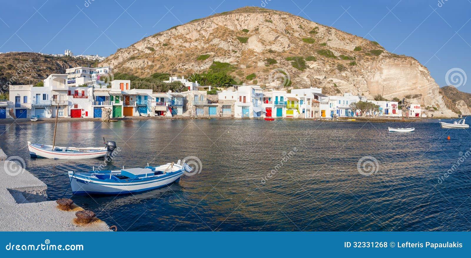 Klima Fishing Village Milos Island Cyclades Greece