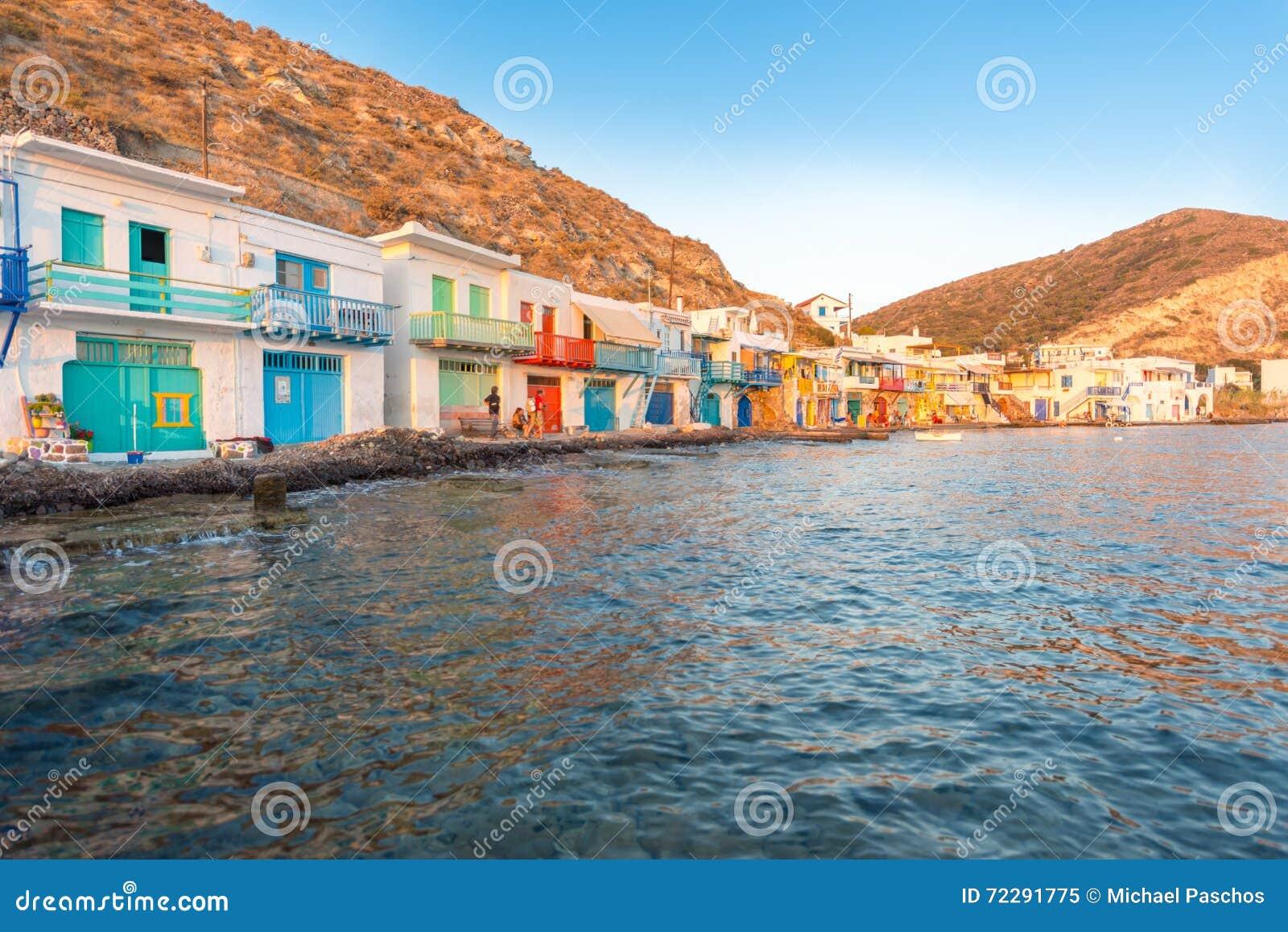 Download Klima, Melos, рыбацкий поселок Редакционное Изображение - изображение насчитывающей взморье, сценарно: 72291775