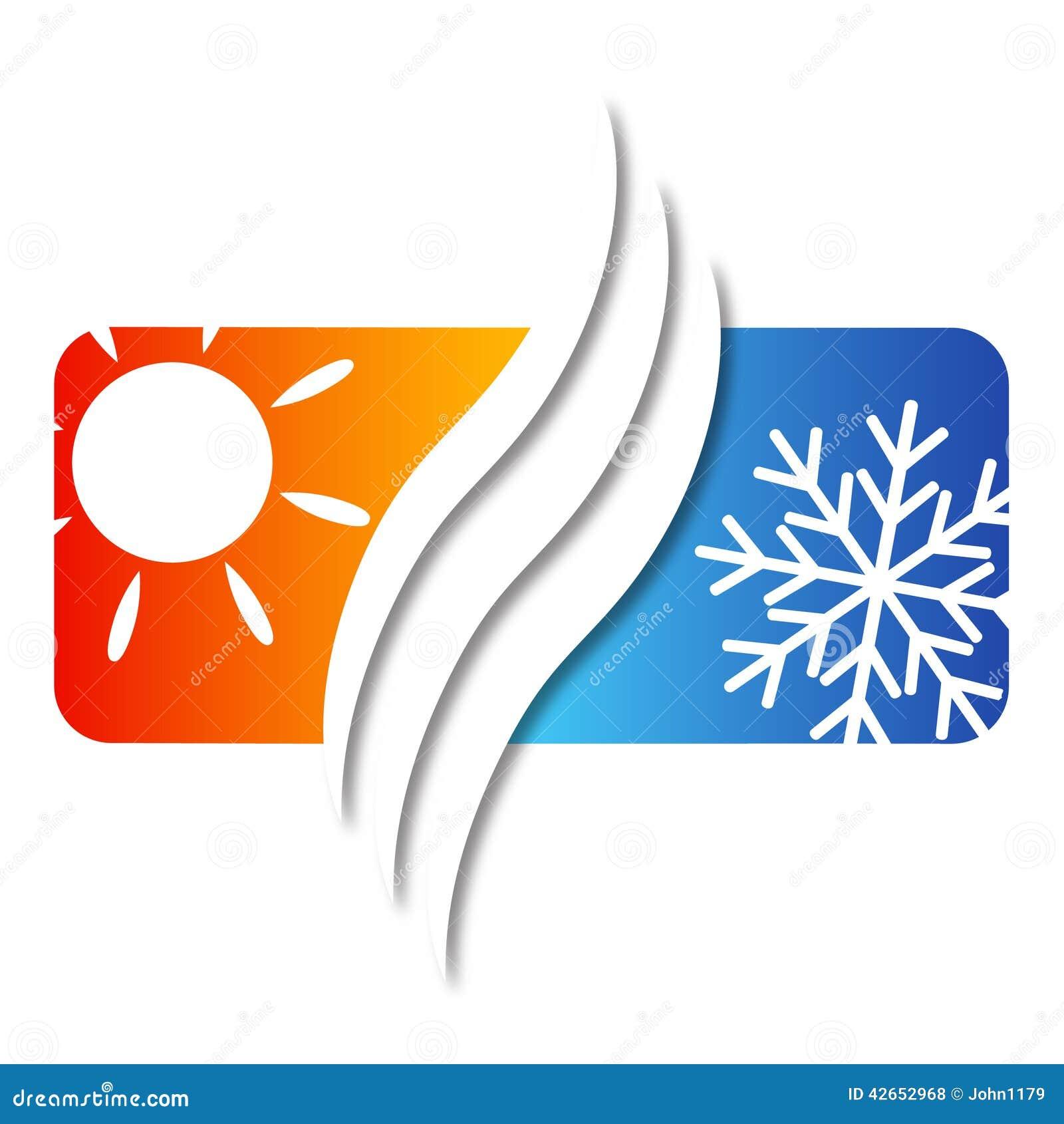 Klimaanlage Fur Haus Vektor Abbildung Illustration Von Winter