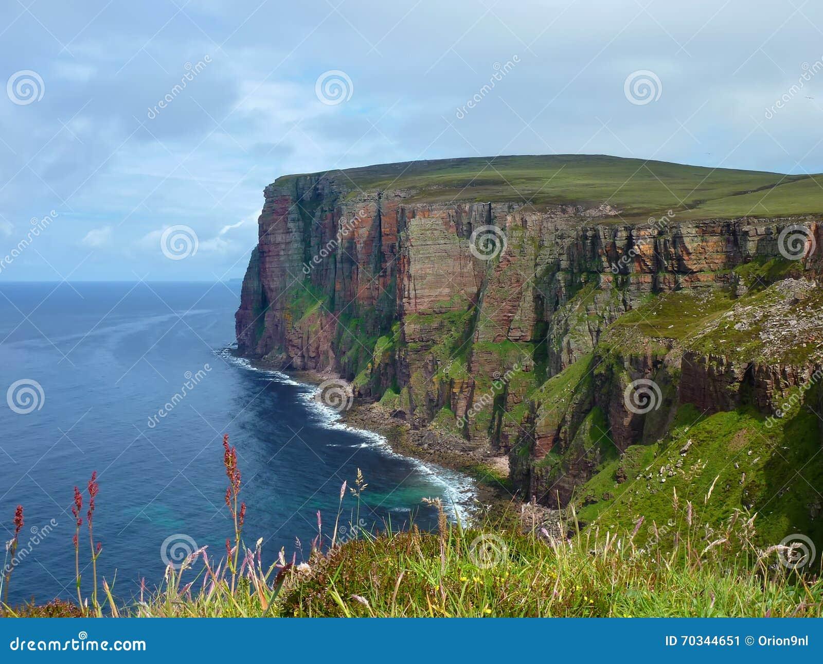 Klippen van Hoy-Eiland op Orkneys