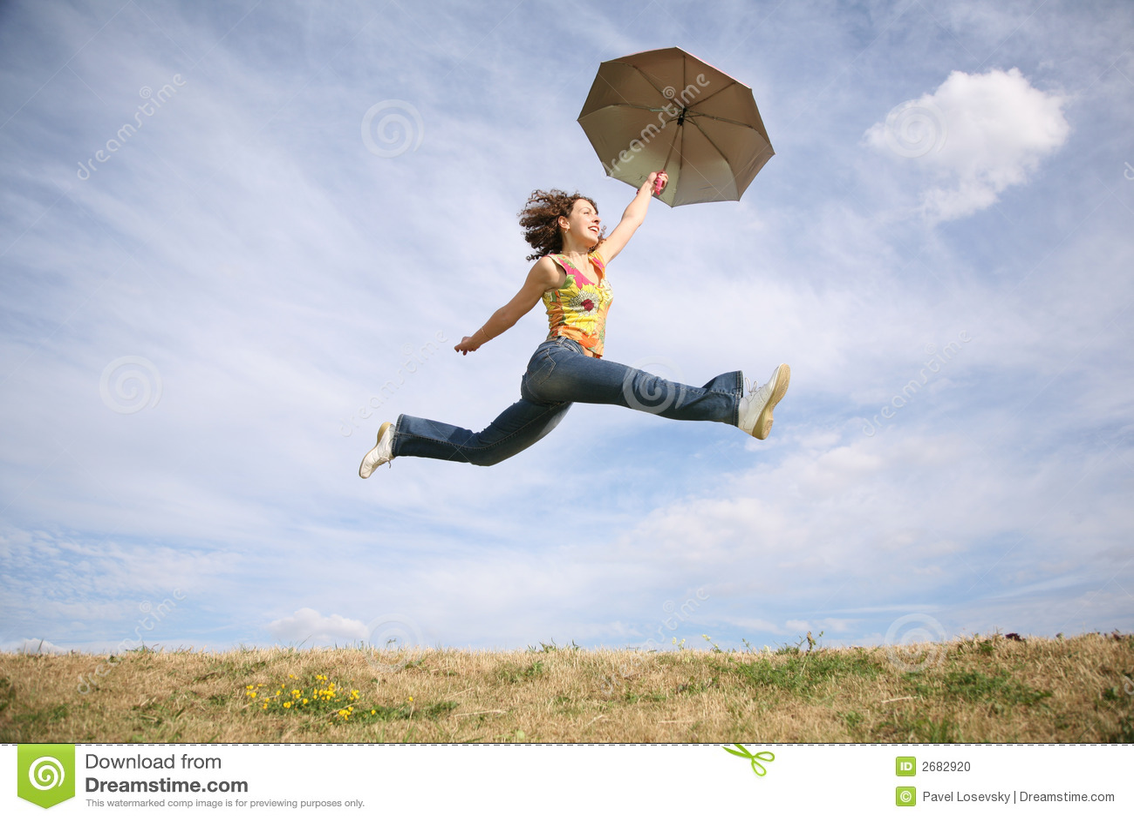Klipsk paraplykvinna