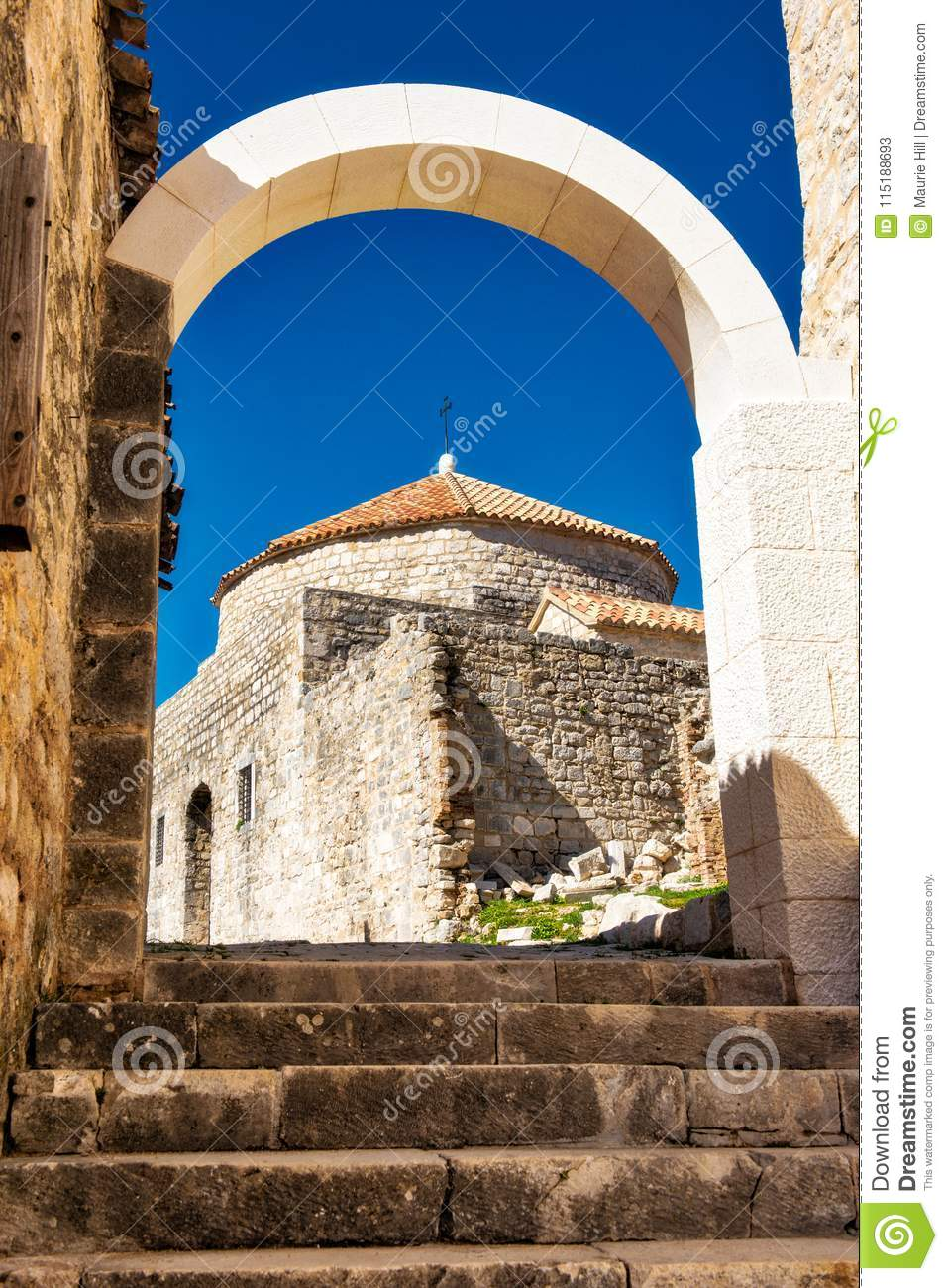 Kliss Castle Dubrovnik stock image. Image of seen, game ...