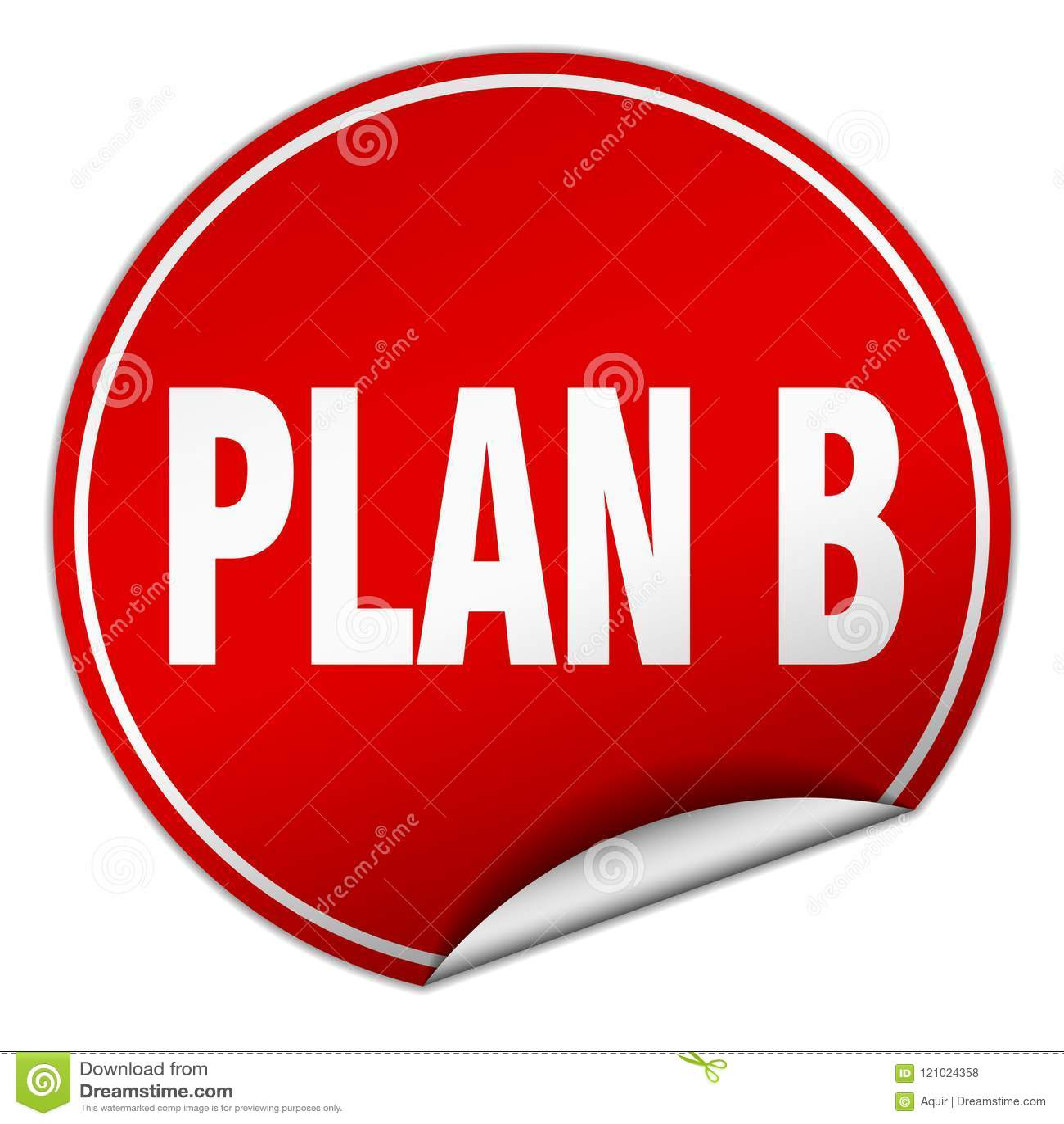 Klistermärke för plan b