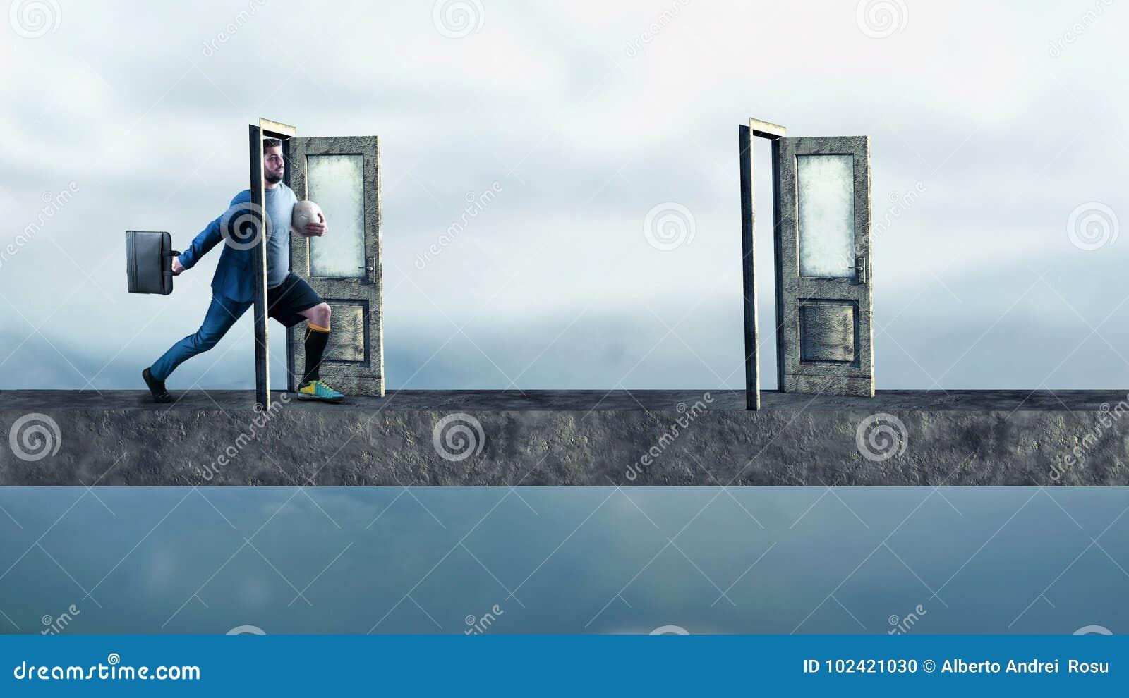 Kliva till och med dörr