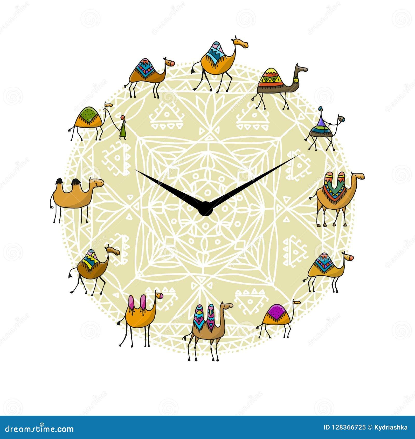 Klocka med kameldesign
