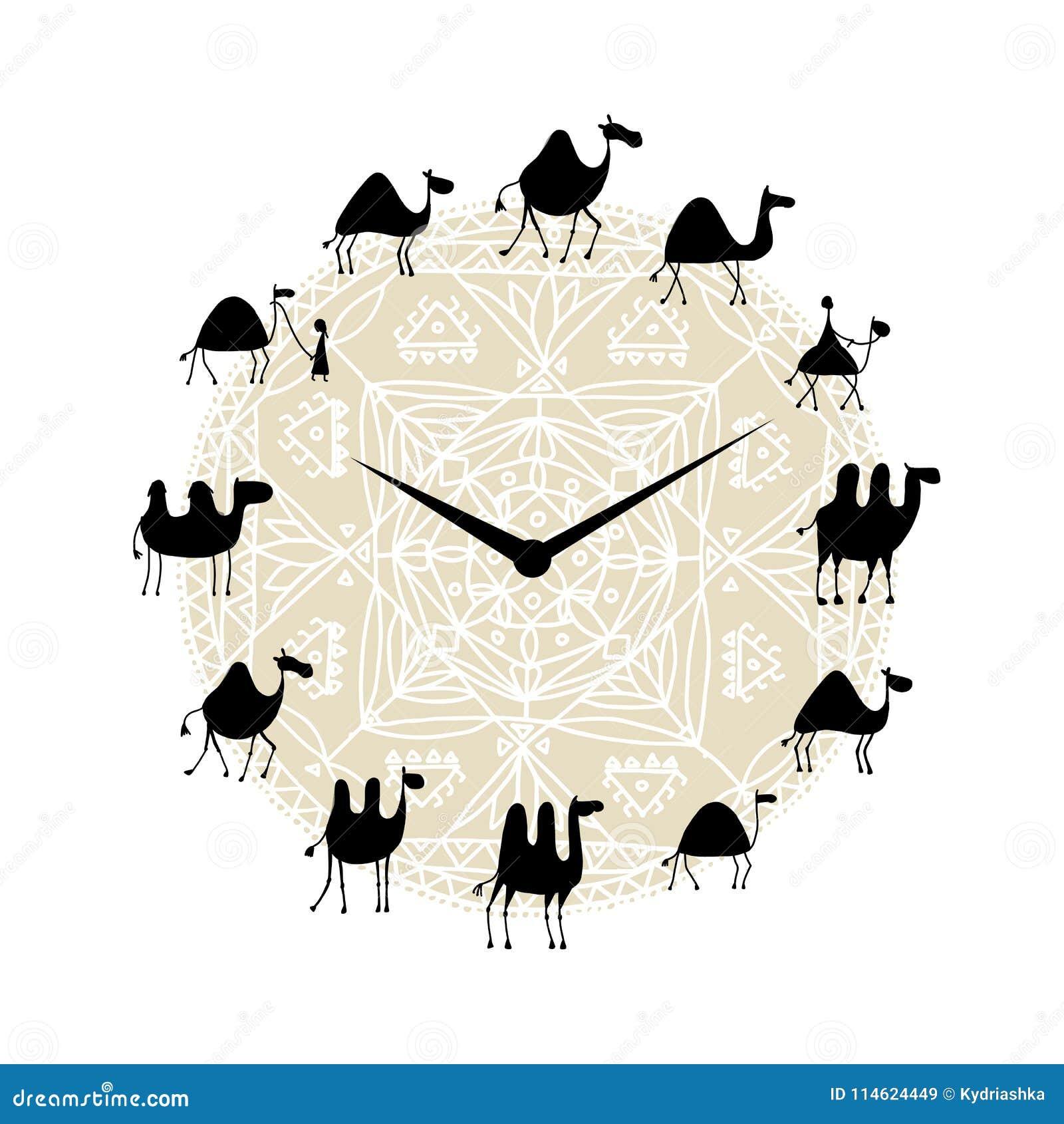 Klocka med kamelkonturdesign